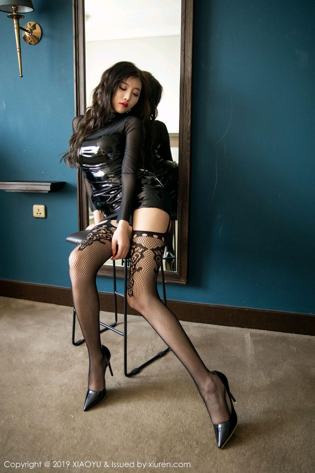 [XiaoYu] Vol.199 Yang Chen Chen 31P, Black Silk, Underwear, XiaoYu, Yang Chen Chen