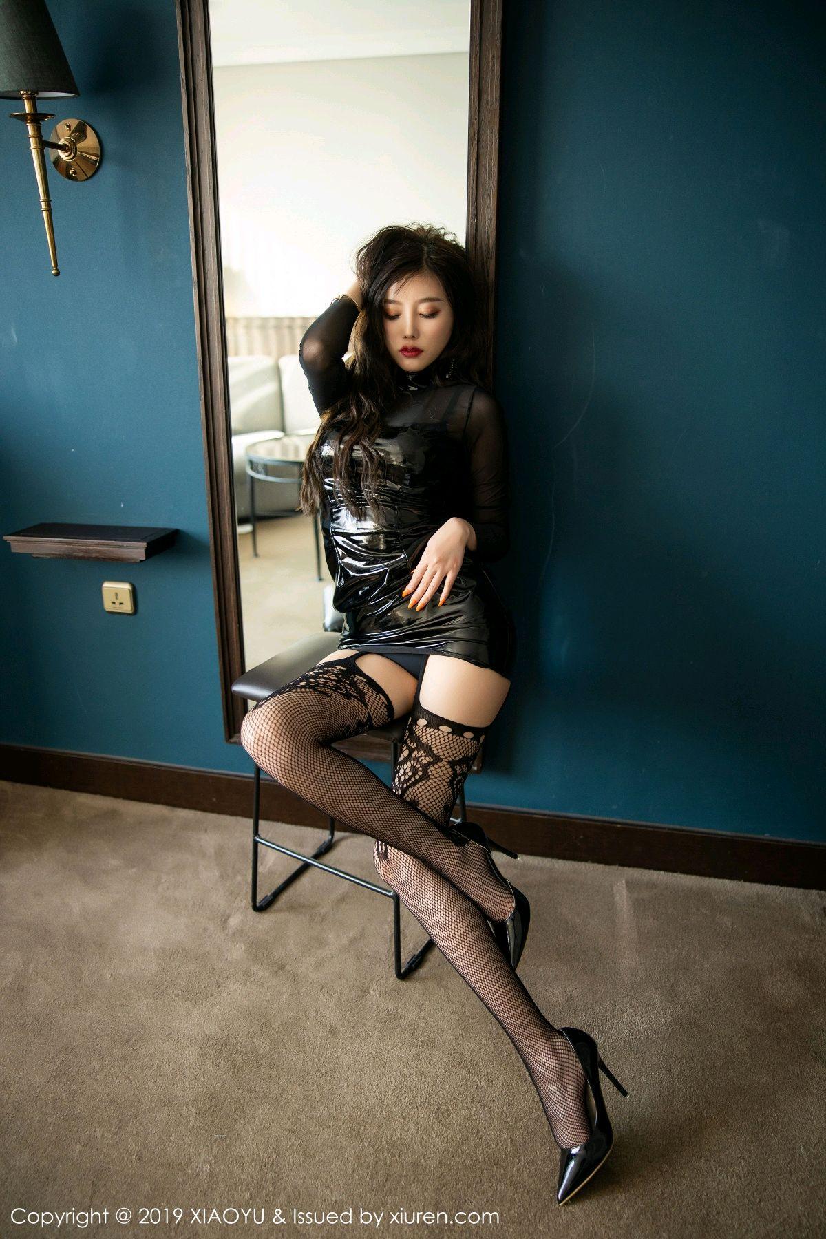 [XiaoYu] Vol.199 Yang Chen Chen 34P, Black Silk, Underwear, XiaoYu, Yang Chen Chen