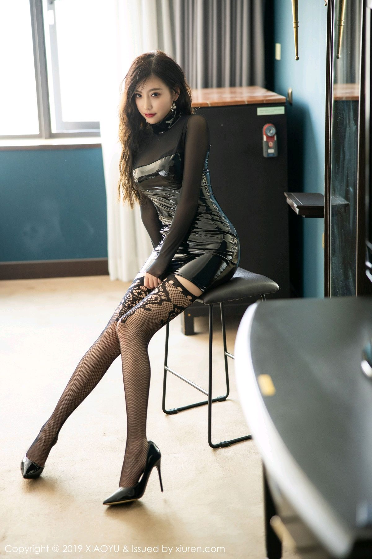 [XiaoYu] Vol.199 Yang Chen Chen 3P, Black Silk, Underwear, XiaoYu, Yang Chen Chen