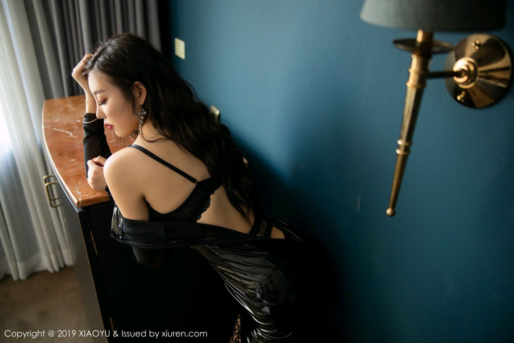 [XiaoYu] Vol.199 Yang Chen Chen 44P, Black Silk, Underwear, XiaoYu, Yang Chen Chen