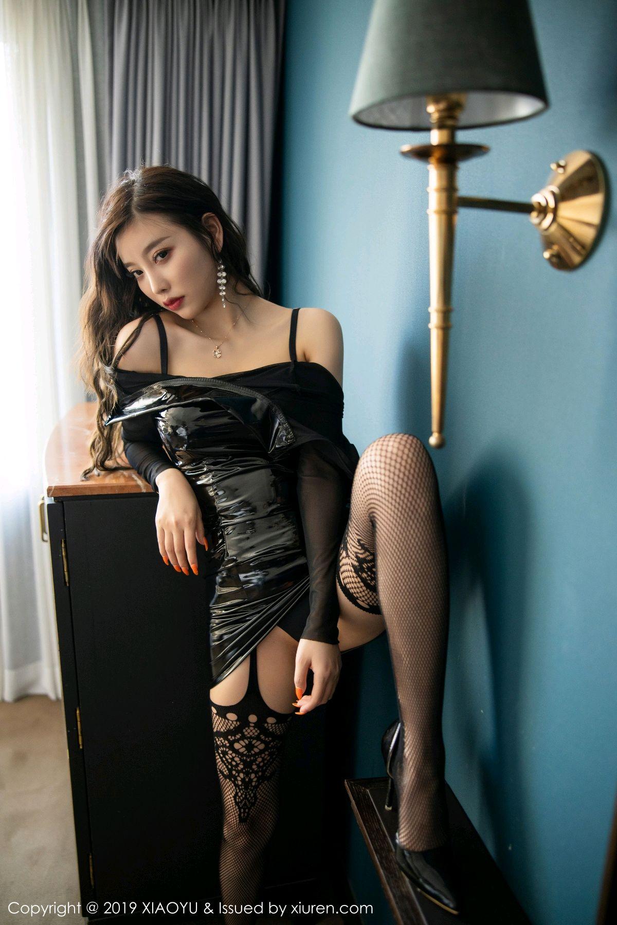 [XiaoYu] Vol.199 Yang Chen Chen 46P, Black Silk, Underwear, XiaoYu, Yang Chen Chen