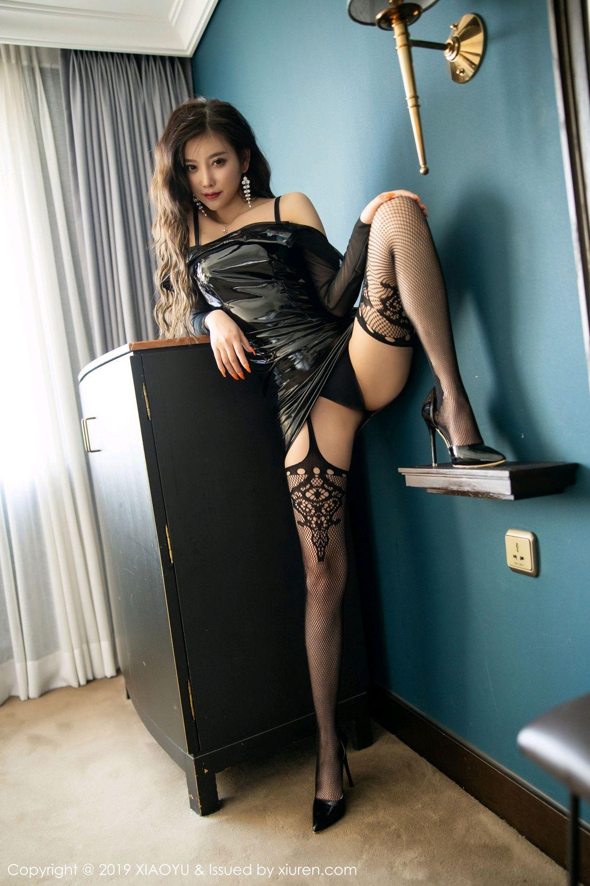 [XiaoYu] Vol.199 Yang Chen Chen 47P, Black Silk, Underwear, XiaoYu, Yang Chen Chen