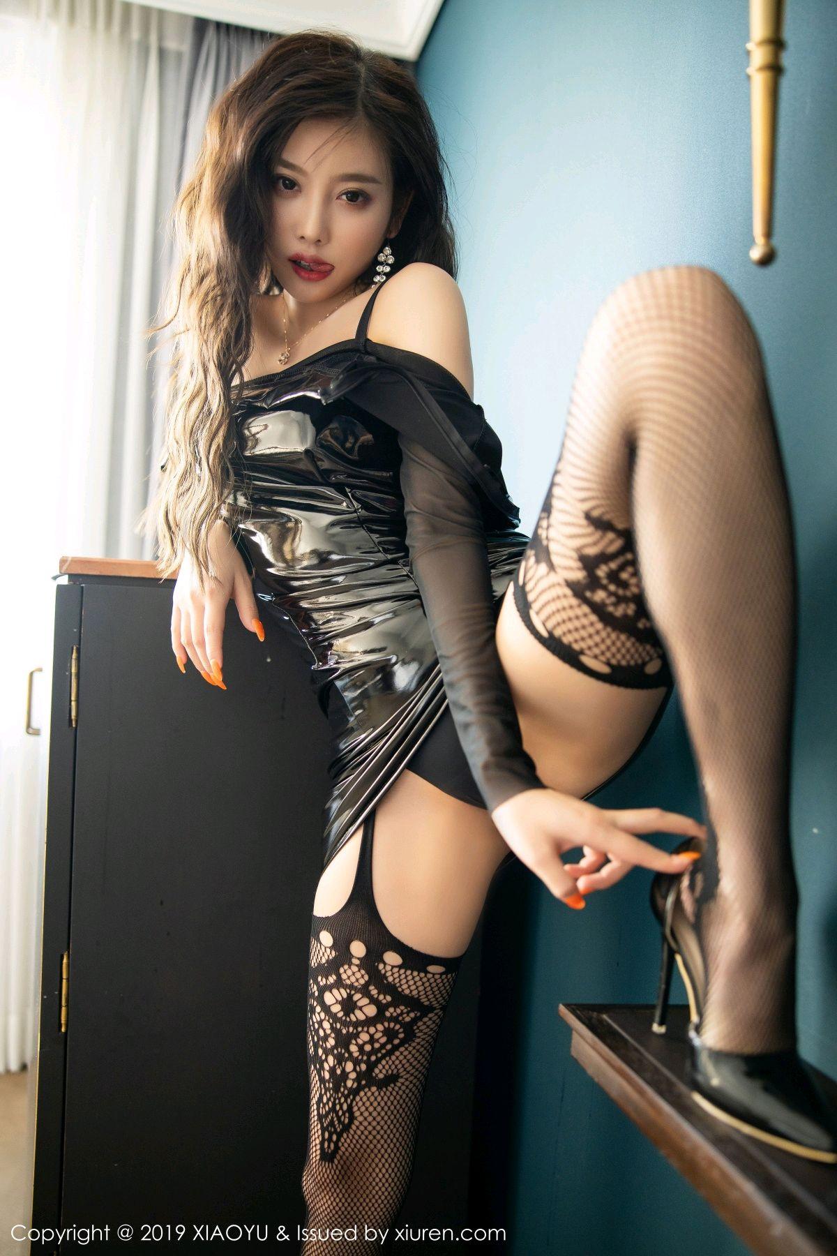 [XiaoYu] Vol.199 Yang Chen Chen 48P, Black Silk, Underwear, XiaoYu, Yang Chen Chen