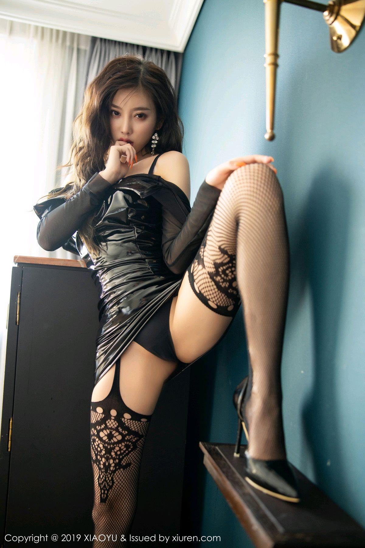 [XiaoYu] Vol.199 Yang Chen Chen 49P, Black Silk, Underwear, XiaoYu, Yang Chen Chen