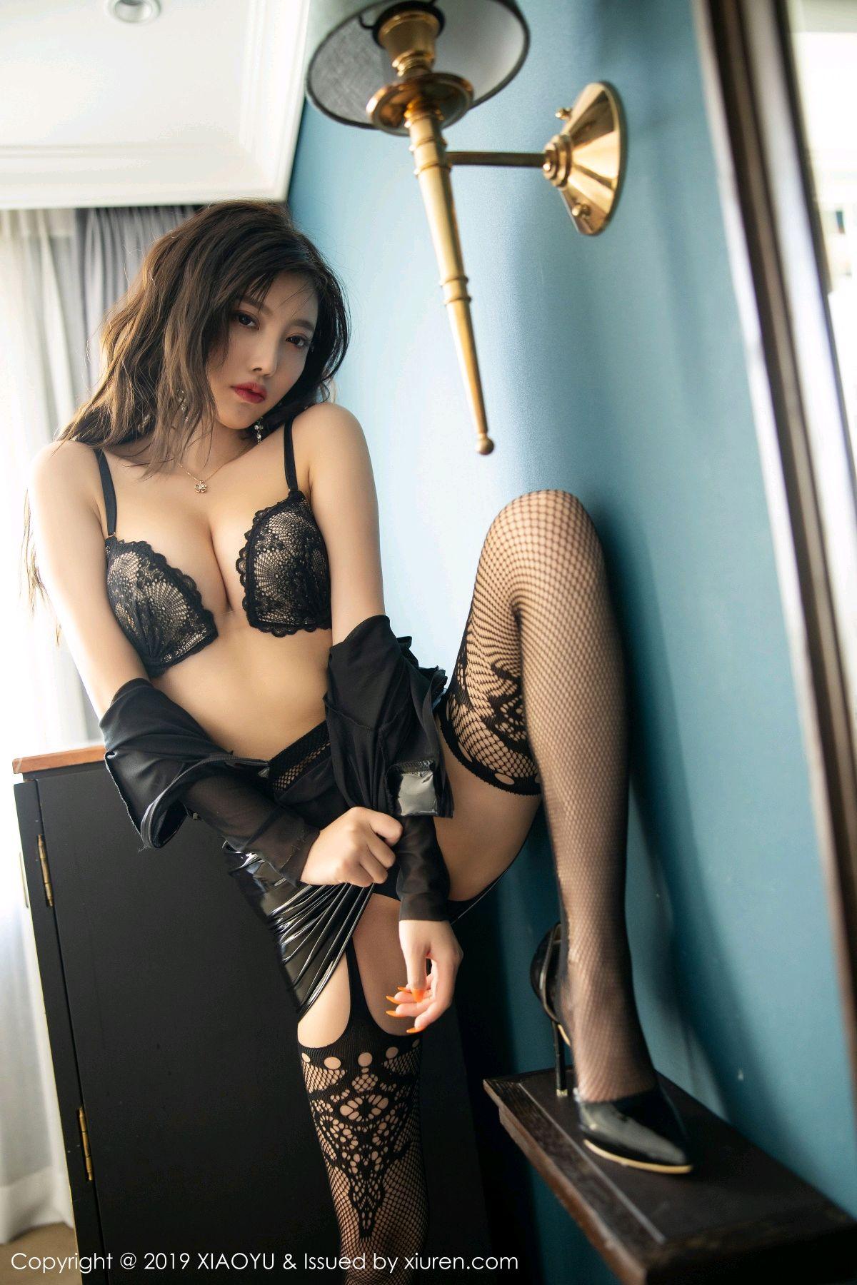[XiaoYu] Vol.199 Yang Chen Chen 50P, Black Silk, Underwear, XiaoYu, Yang Chen Chen
