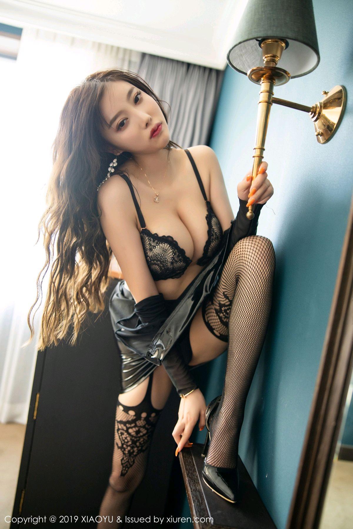 [XiaoYu] Vol.199 Yang Chen Chen 51P, Black Silk, Underwear, XiaoYu, Yang Chen Chen