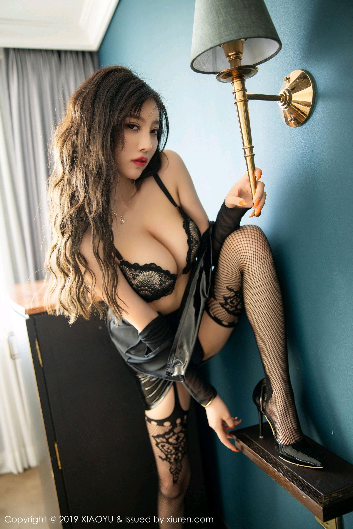 [XiaoYu] Vol.199 Yang Chen Chen 52P, Black Silk, Underwear, XiaoYu, Yang Chen Chen