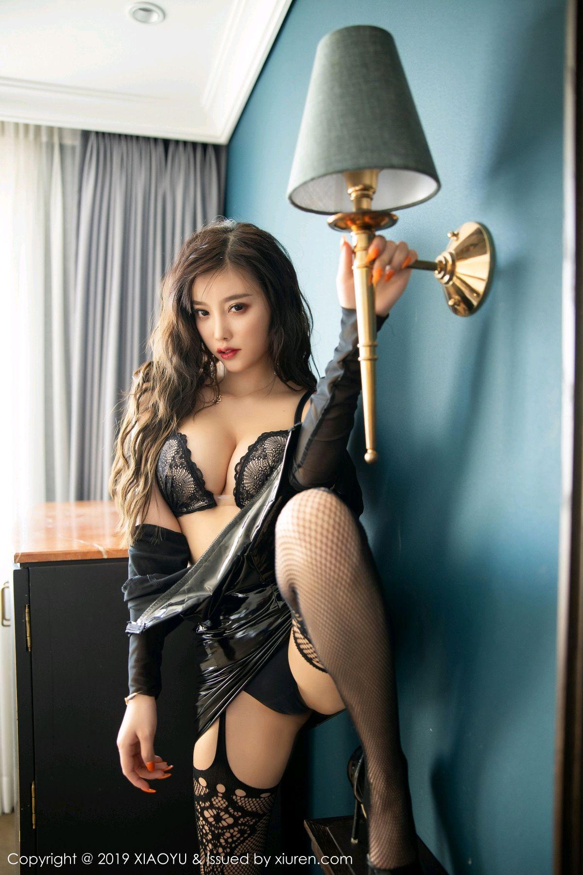 [XiaoYu] Vol.199 Yang Chen Chen 53P, Black Silk, Underwear, XiaoYu, Yang Chen Chen