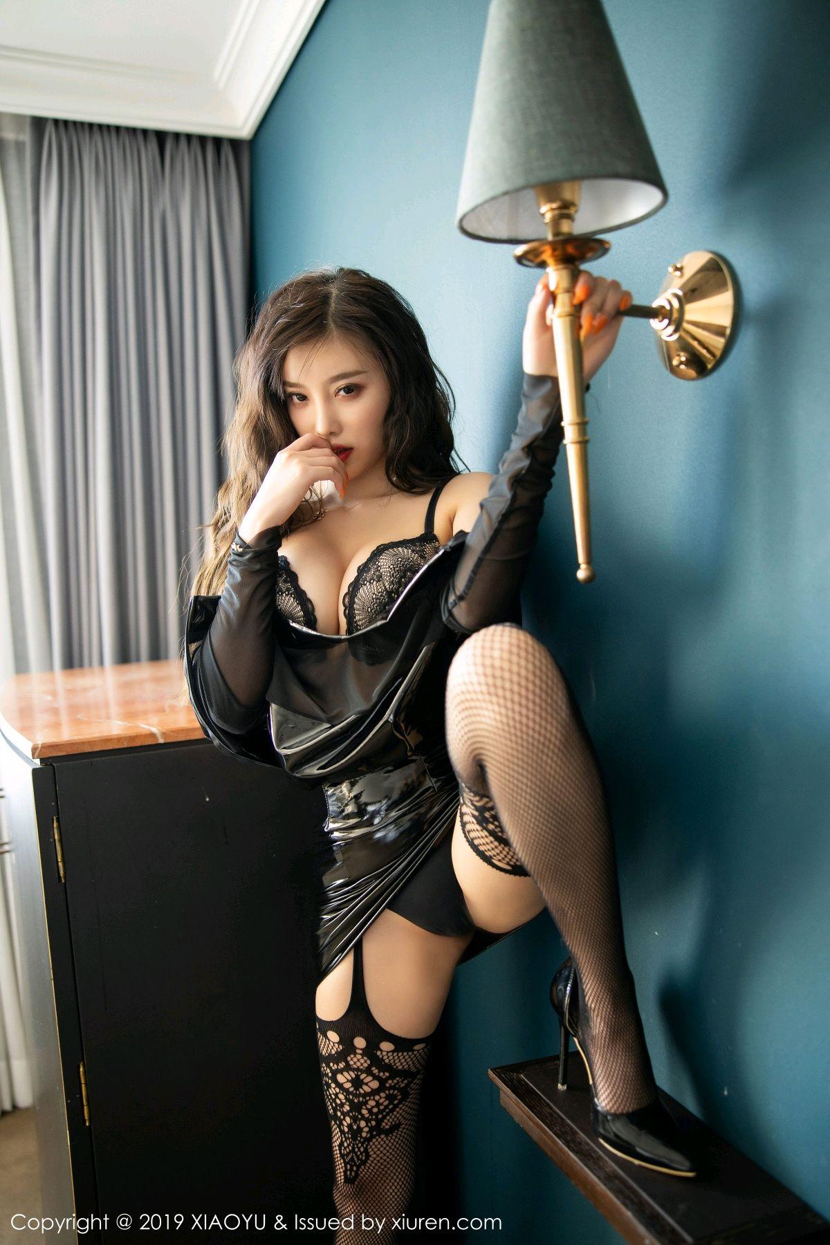 [XiaoYu] Vol.199 Yang Chen Chen 54P, Black Silk, Underwear, XiaoYu, Yang Chen Chen