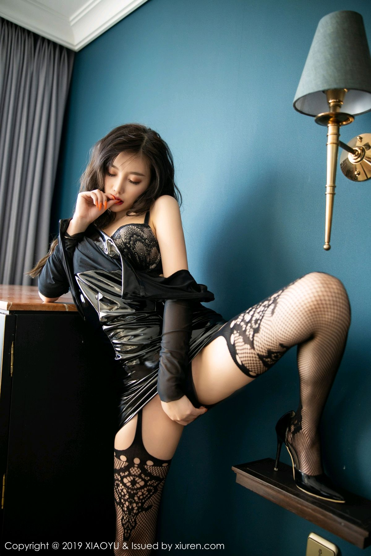 [XiaoYu] Vol.199 Yang Chen Chen 55P, Black Silk, Underwear, XiaoYu, Yang Chen Chen