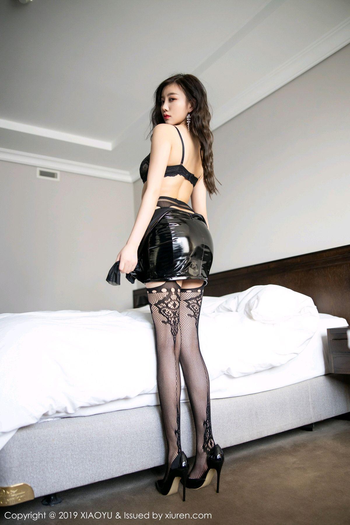 [XiaoYu] Vol.199 Yang Chen Chen 57P, Black Silk, Underwear, XiaoYu, Yang Chen Chen