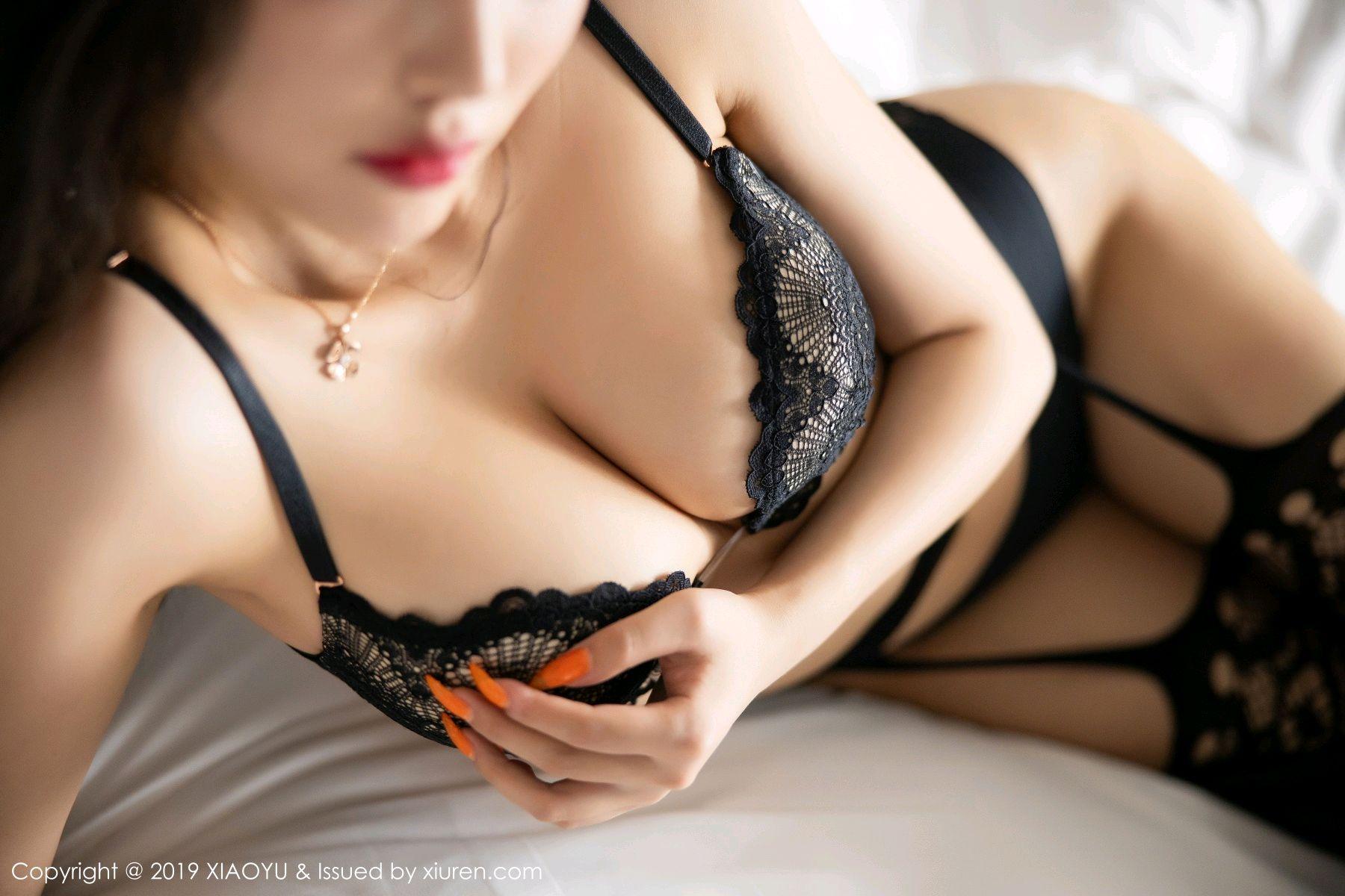 [XiaoYu] Vol.199 Yang Chen Chen 63P, Black Silk, Underwear, XiaoYu, Yang Chen Chen