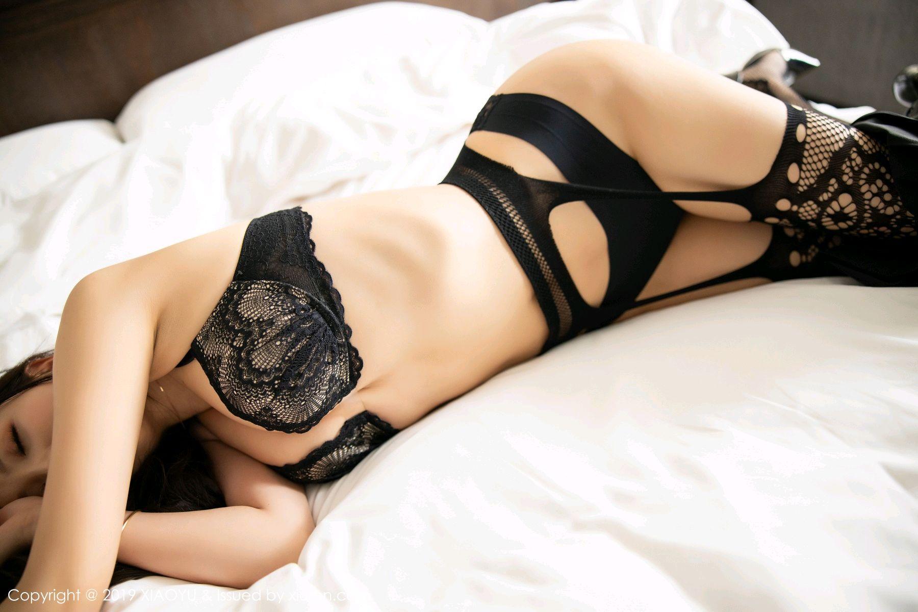 [XiaoYu] Vol.199 Yang Chen Chen 69P, Black Silk, Underwear, XiaoYu, Yang Chen Chen