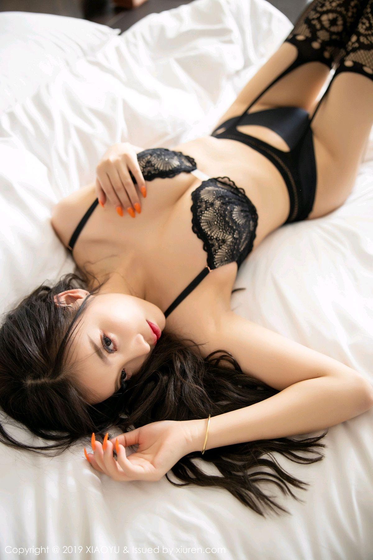 [XiaoYu] Vol.199 Yang Chen Chen 74P, Black Silk, Underwear, XiaoYu, Yang Chen Chen