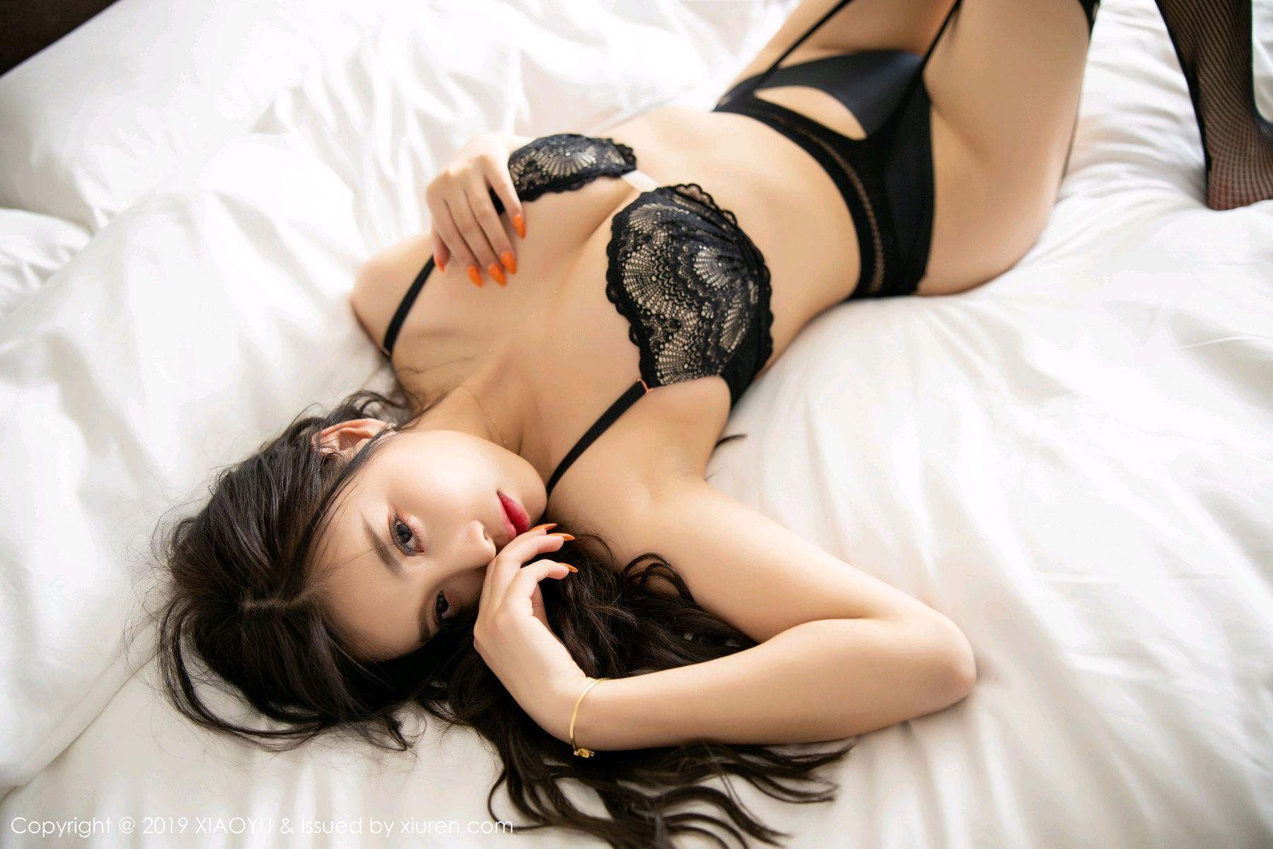 [XiaoYu] Vol.199 Yang Chen Chen 75P, Black Silk, Underwear, XiaoYu, Yang Chen Chen