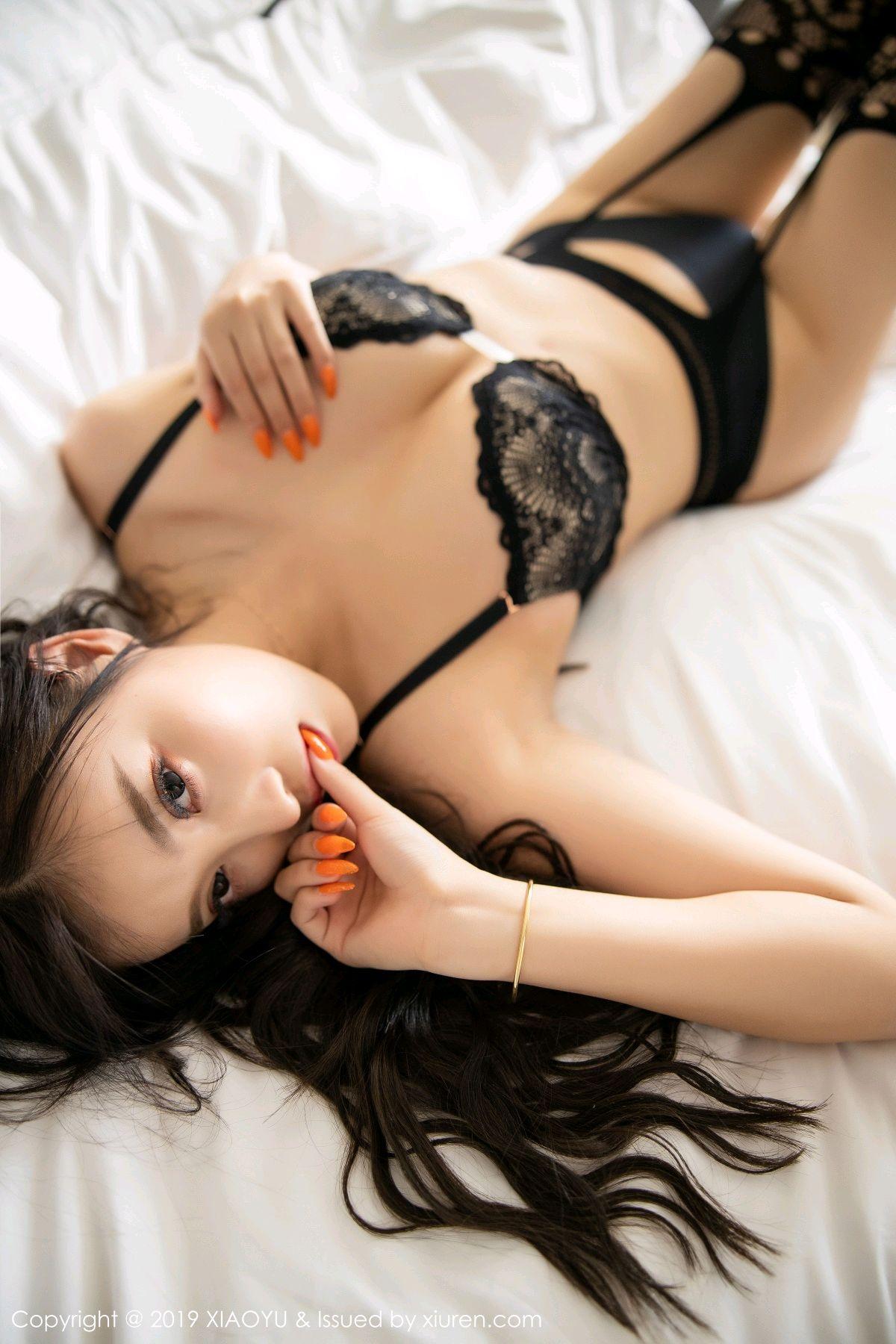 [XiaoYu] Vol.199 Yang Chen Chen 76P, Black Silk, Underwear, XiaoYu, Yang Chen Chen