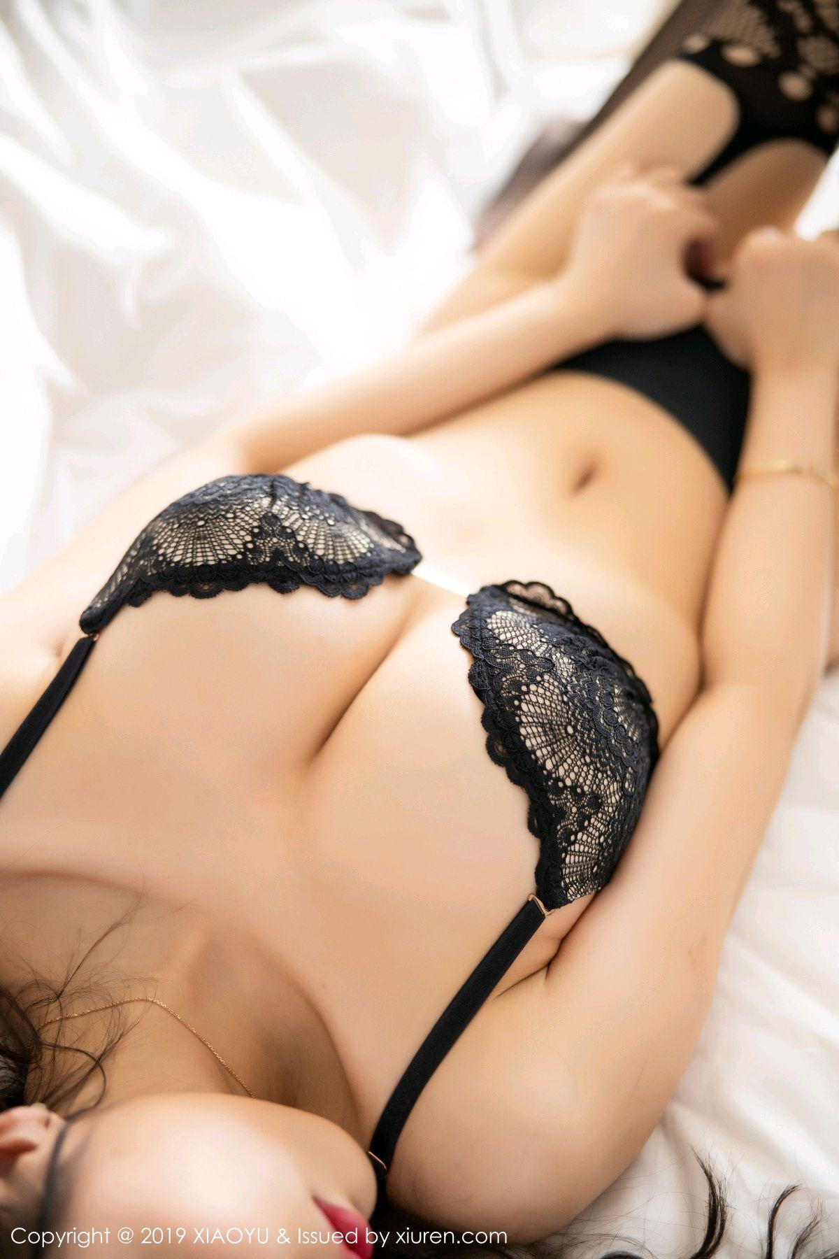 [XiaoYu] Vol.199 Yang Chen Chen 77P, Black Silk, Underwear, XiaoYu, Yang Chen Chen