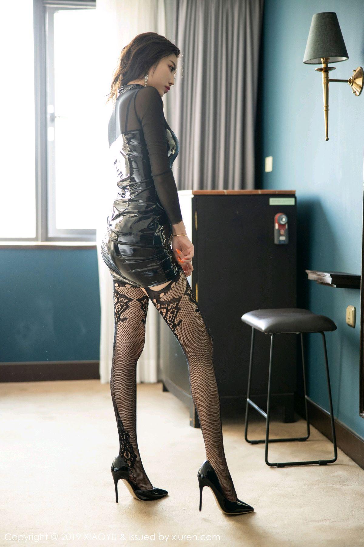 [XiaoYu] Vol.199 Yang Chen Chen 7P, Black Silk, Underwear, XiaoYu, Yang Chen Chen