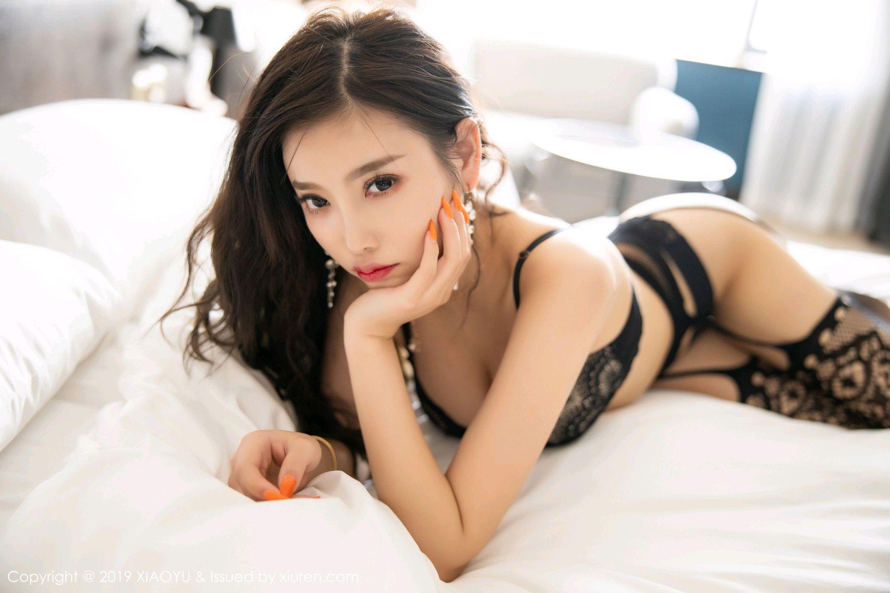 [XiaoYu] Vol.199 Yang Chen Chen 81P, Black Silk, Underwear, XiaoYu, Yang Chen Chen