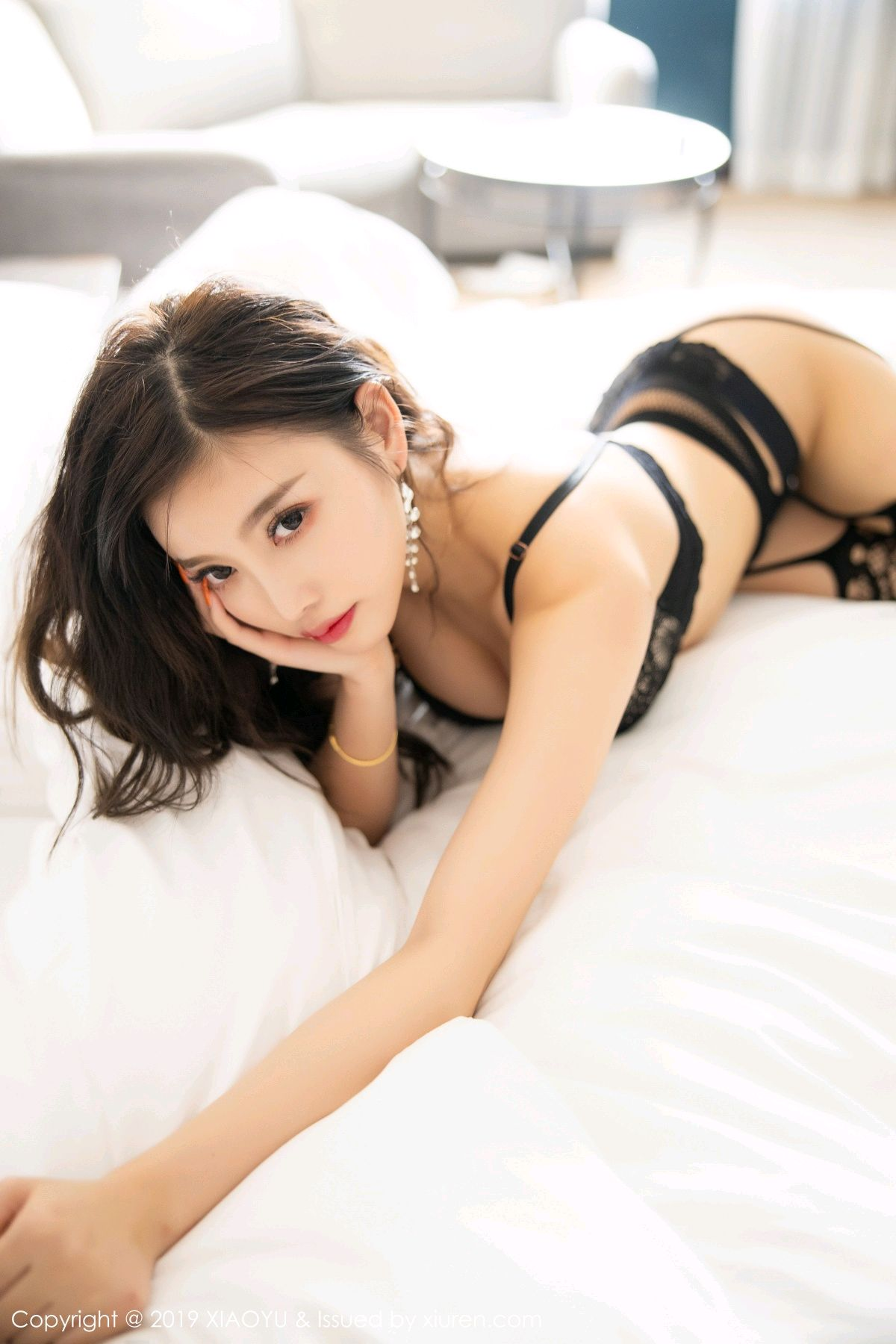 [XiaoYu] Vol.199 Yang Chen Chen 82P, Black Silk, Underwear, XiaoYu, Yang Chen Chen