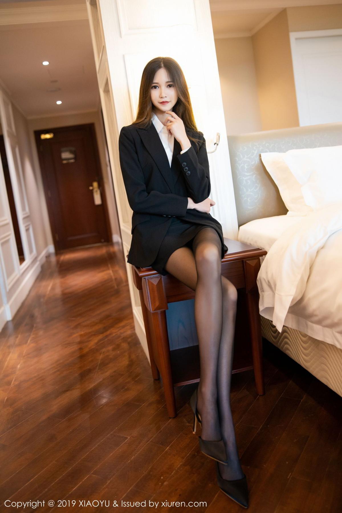 [XiaoYu] Vol.201 Cheng Cheng Cheng 10P, Black Silk, Cheng Cheng Cheng, Uniform, XiaoYu