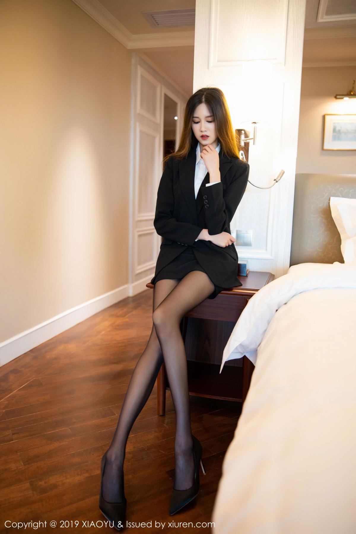 [XiaoYu] Vol.201 Cheng Cheng Cheng 12P, Black Silk, Cheng Cheng Cheng, Uniform, XiaoYu