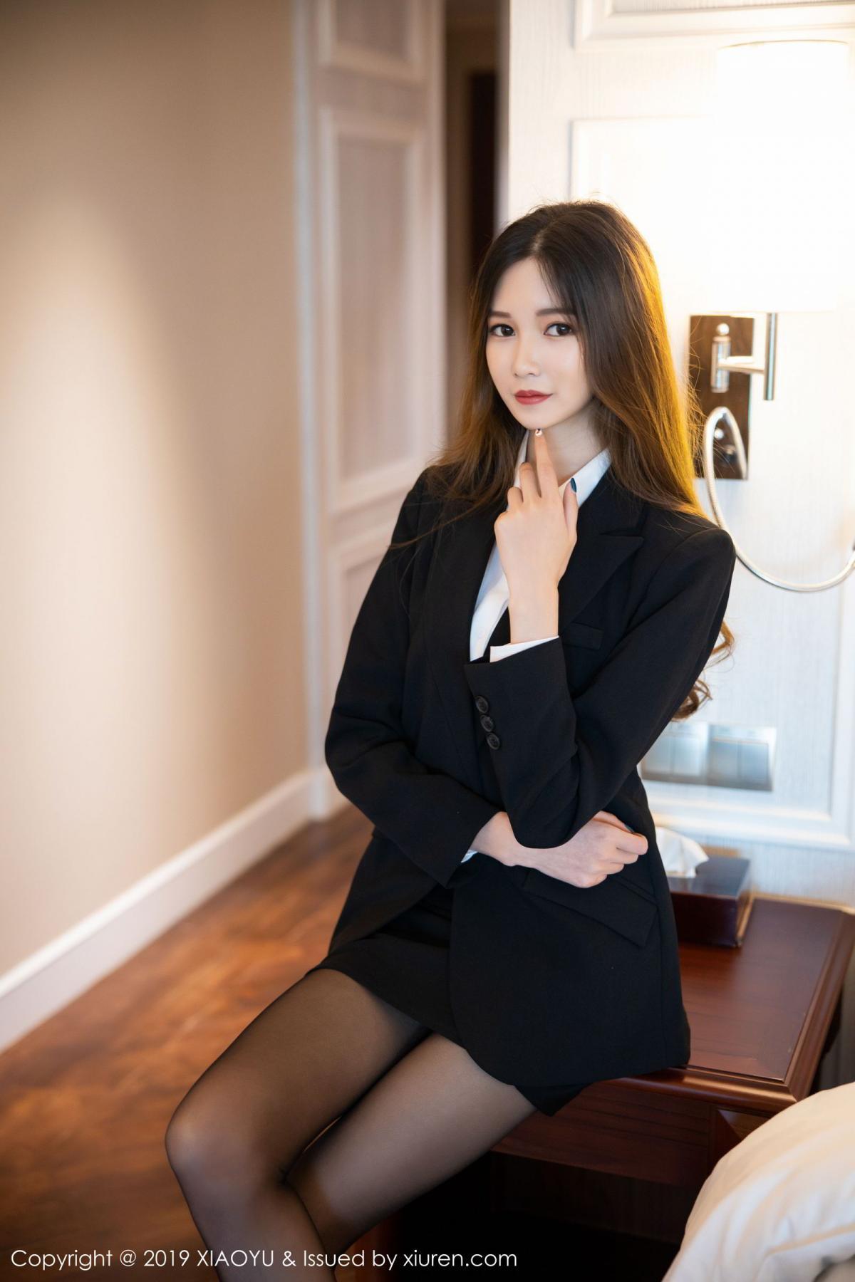 [XiaoYu] Vol.201 Cheng Cheng Cheng 13P, Black Silk, Cheng Cheng Cheng, Uniform, XiaoYu