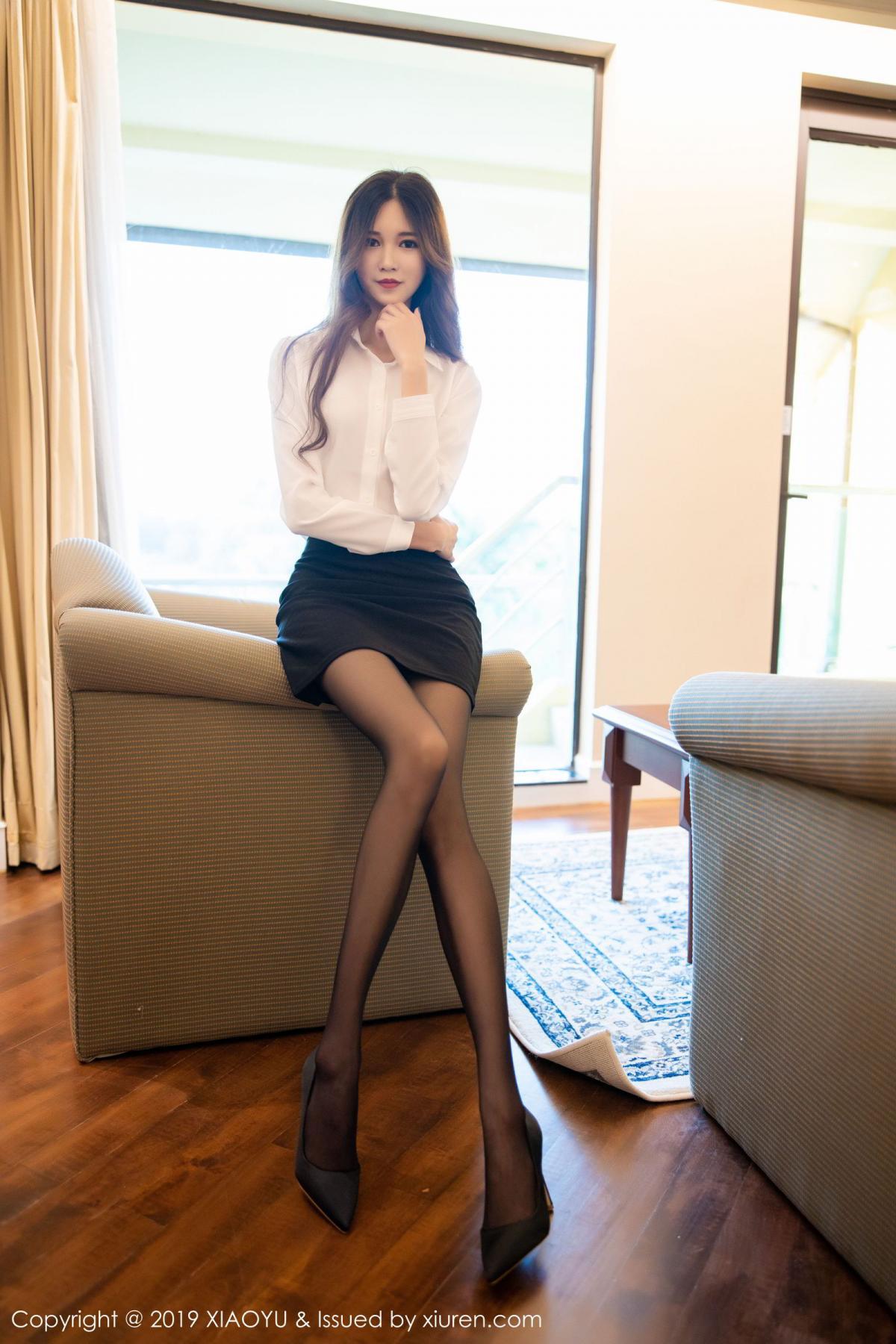 [XiaoYu] Vol.201 Cheng Cheng Cheng 16P, Black Silk, Cheng Cheng Cheng, Uniform, XiaoYu