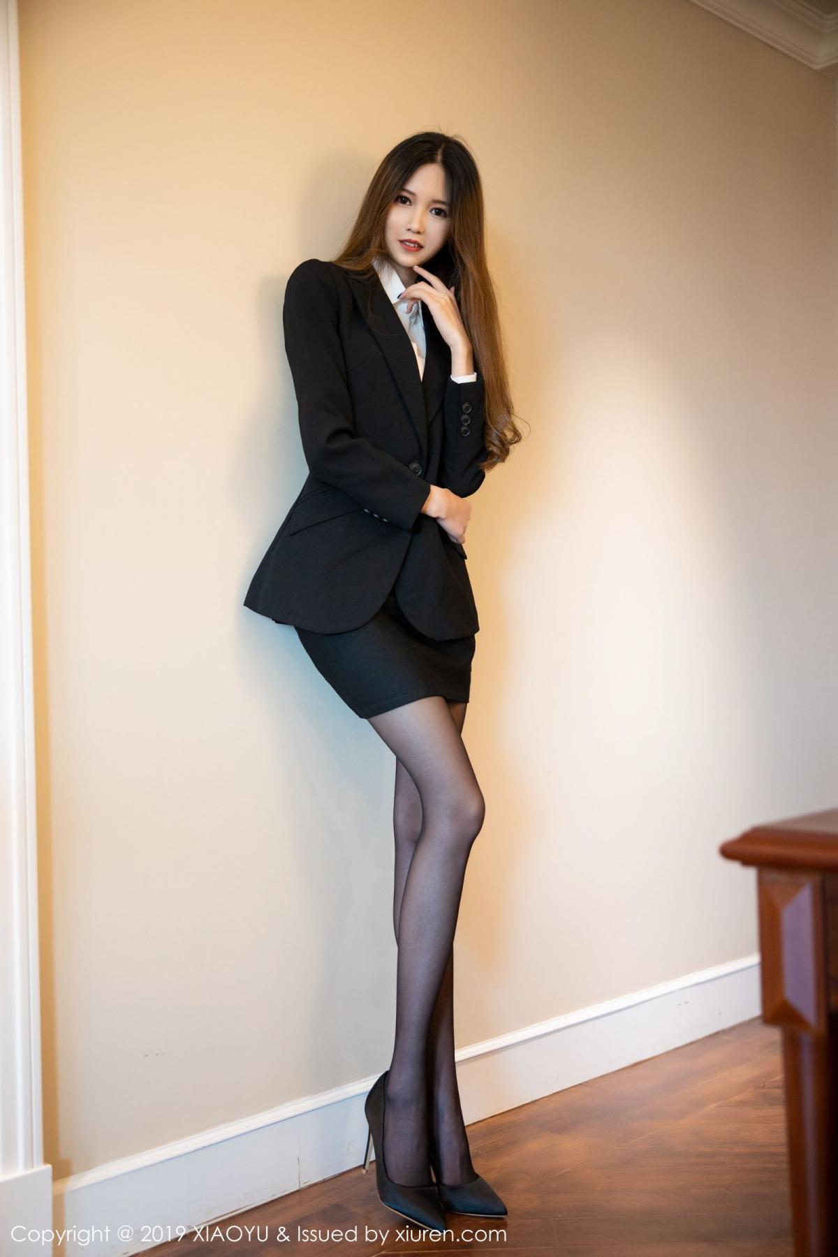 [XiaoYu] Vol.201 Cheng Cheng Cheng 1P, Black Silk, Cheng Cheng Cheng, Uniform, XiaoYu
