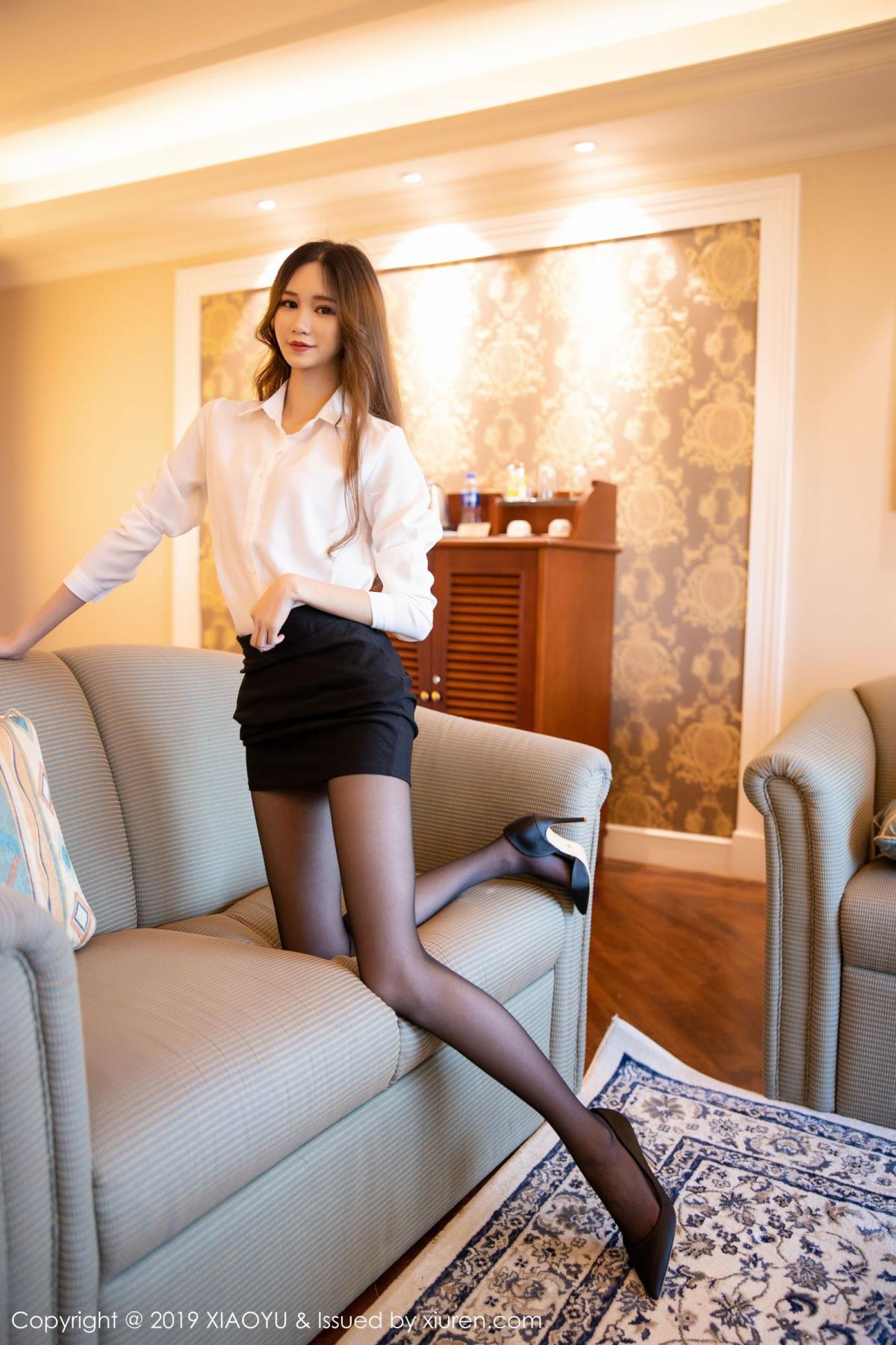 [XiaoYu] Vol.201 Cheng Cheng Cheng 20P, Black Silk, Cheng Cheng Cheng, Uniform, XiaoYu