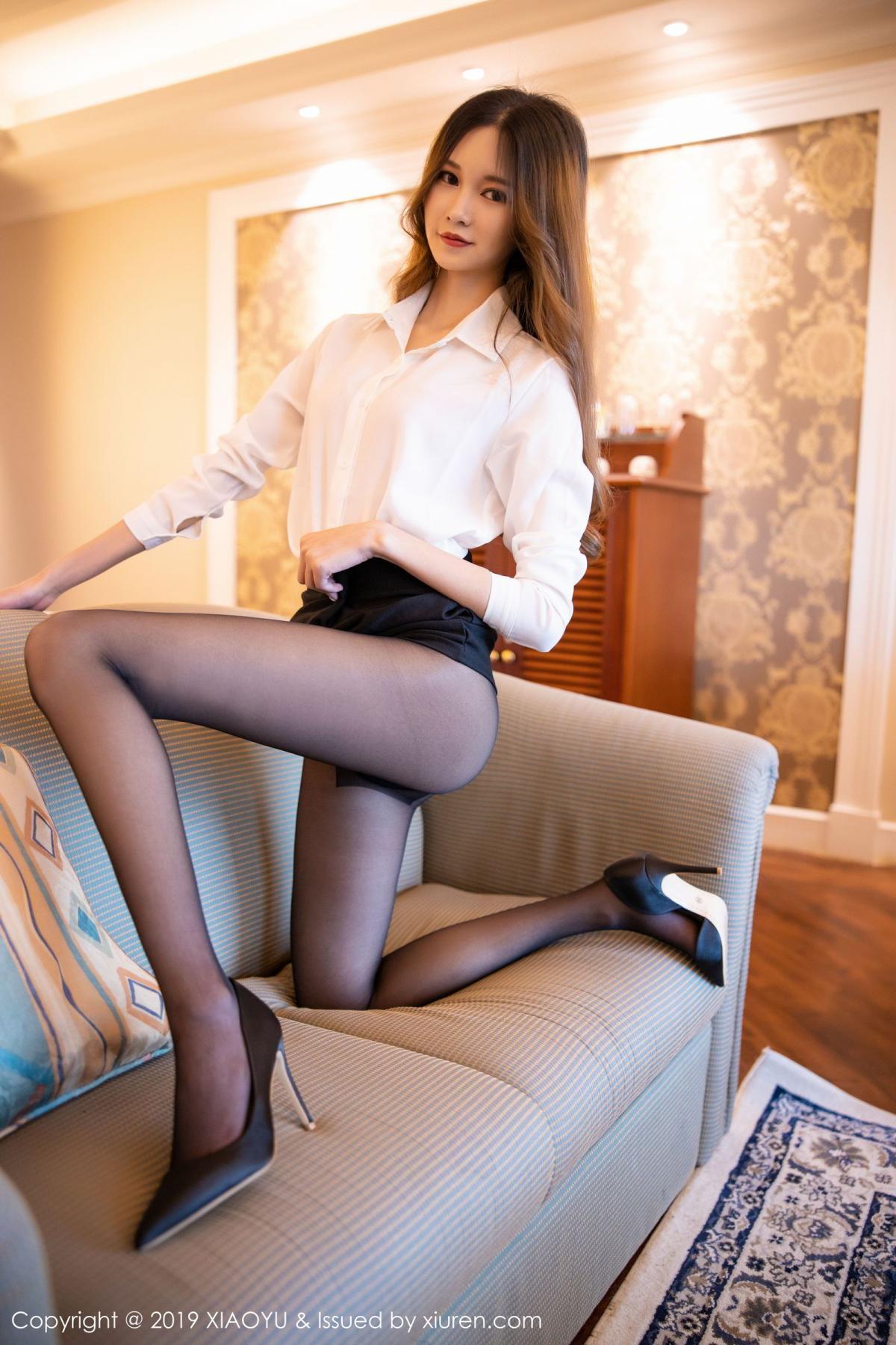 [XiaoYu] Vol.201 Cheng Cheng Cheng 26P, Black Silk, Cheng Cheng Cheng, Uniform, XiaoYu