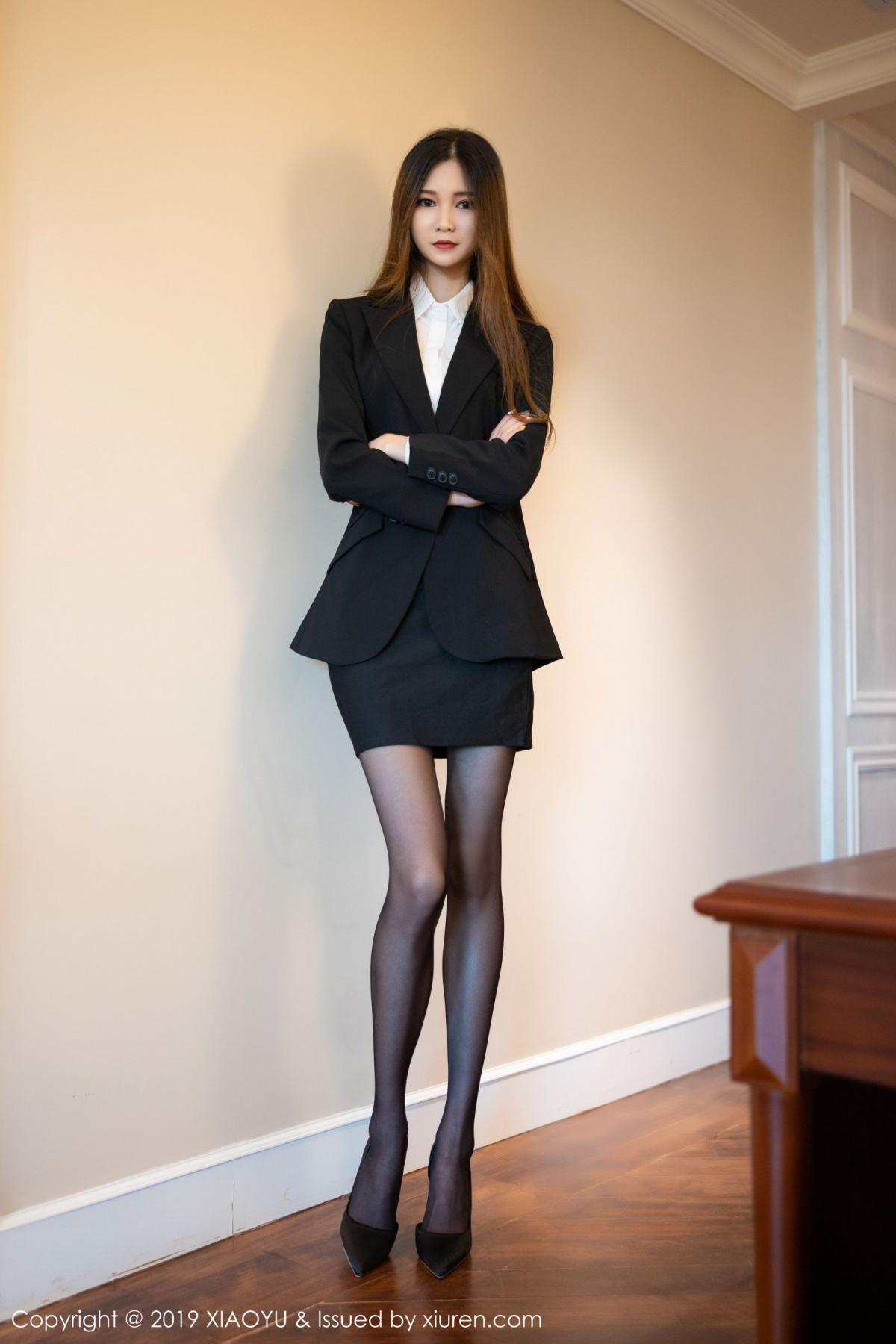 [XiaoYu] Vol.201 Cheng Cheng Cheng 2P, Black Silk, Cheng Cheng Cheng, Uniform, XiaoYu