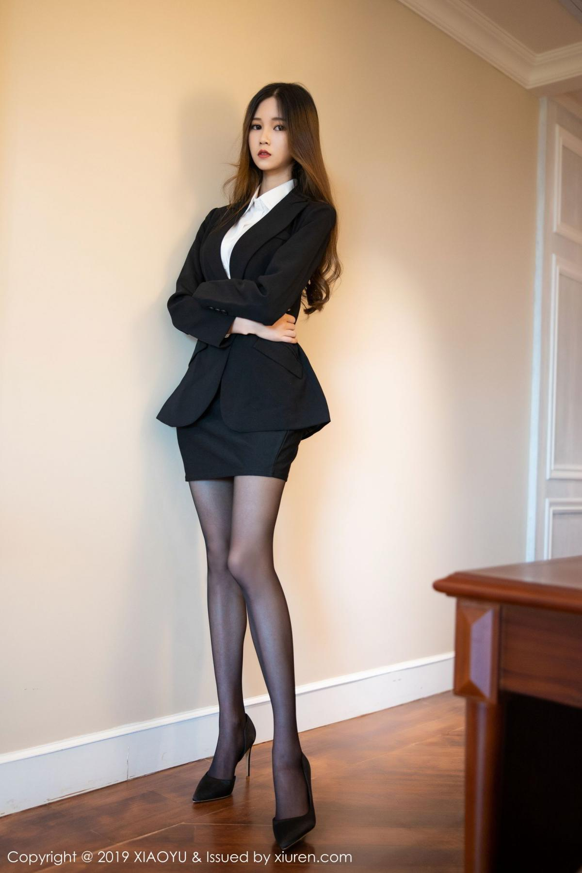 [XiaoYu] Vol.201 Cheng Cheng Cheng 3P, Black Silk, Cheng Cheng Cheng, Uniform, XiaoYu