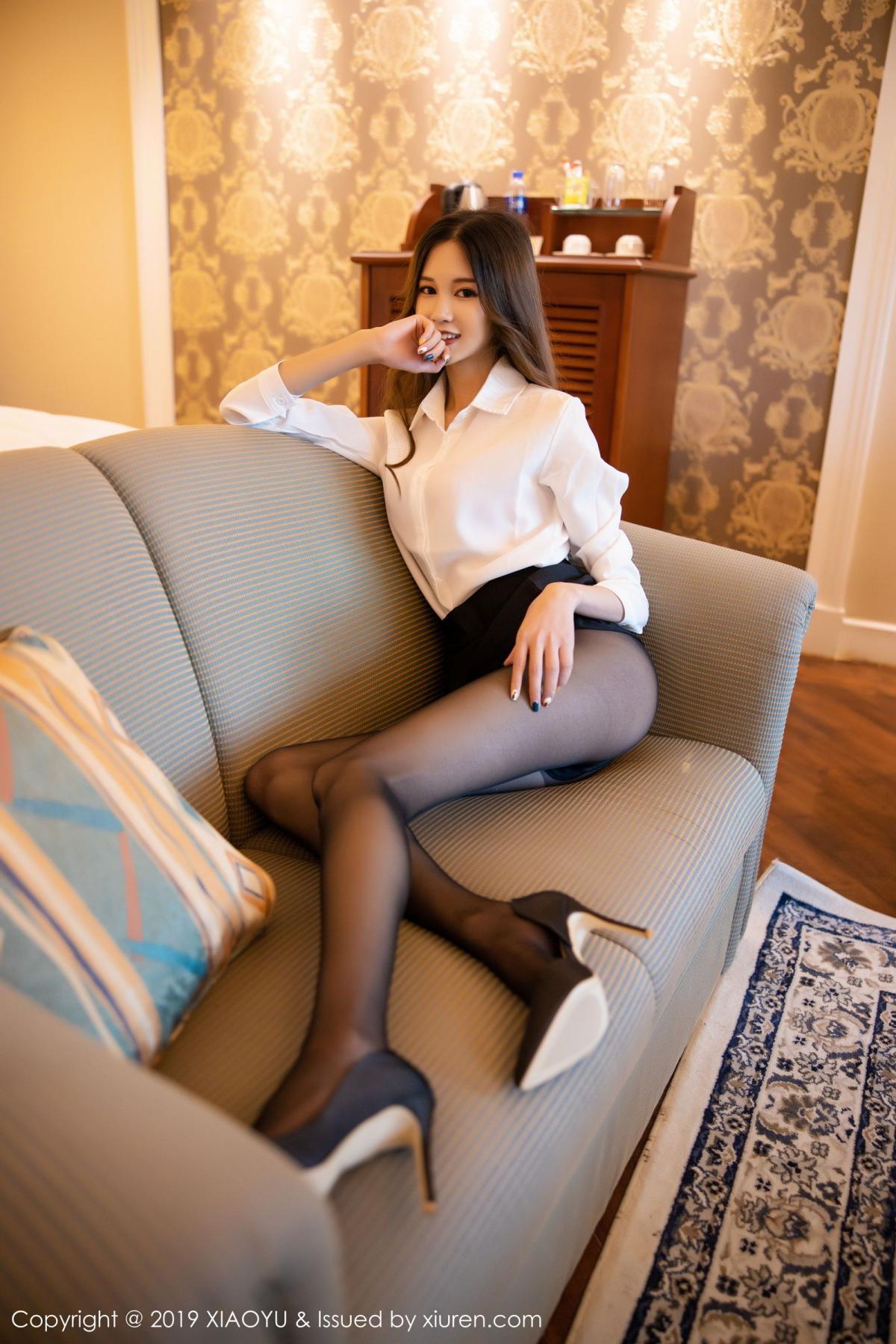 [XiaoYu] Vol.201 Cheng Cheng Cheng 41P, Black Silk, Cheng Cheng Cheng, Uniform, XiaoYu