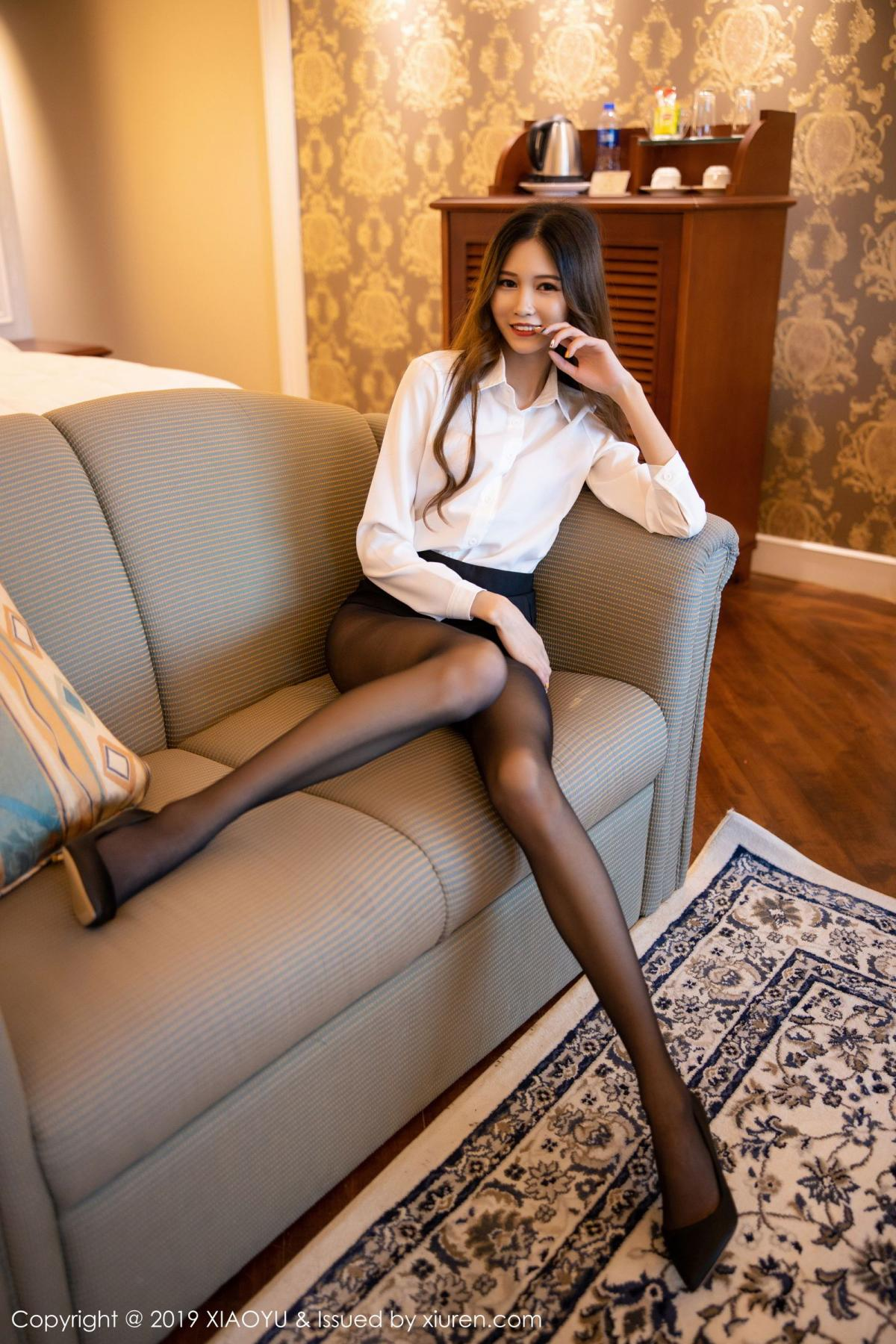 [XiaoYu] Vol.201 Cheng Cheng Cheng 42P, Black Silk, Cheng Cheng Cheng, Uniform, XiaoYu