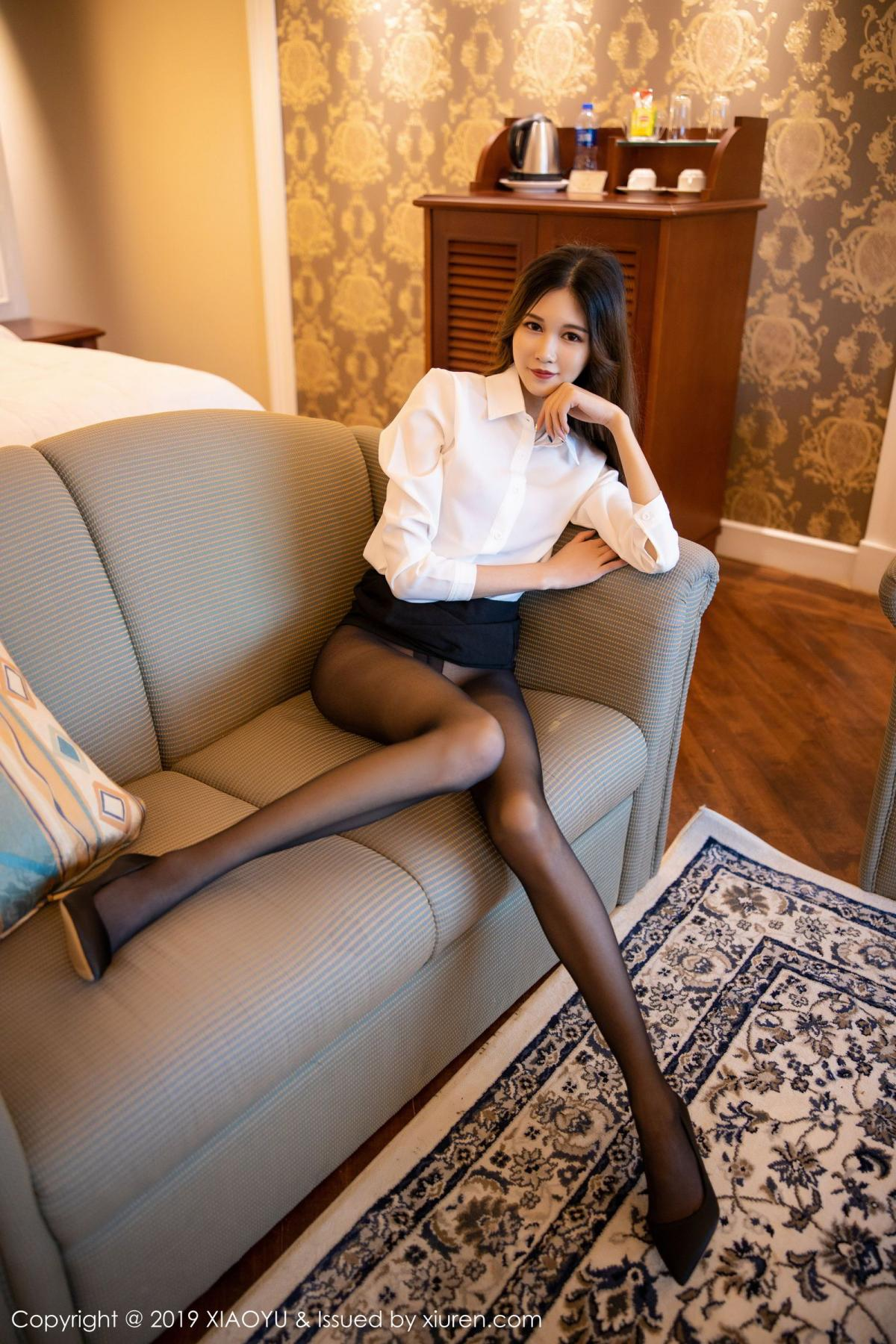 [XiaoYu] Vol.201 Cheng Cheng Cheng 43P, Black Silk, Cheng Cheng Cheng, Uniform, XiaoYu