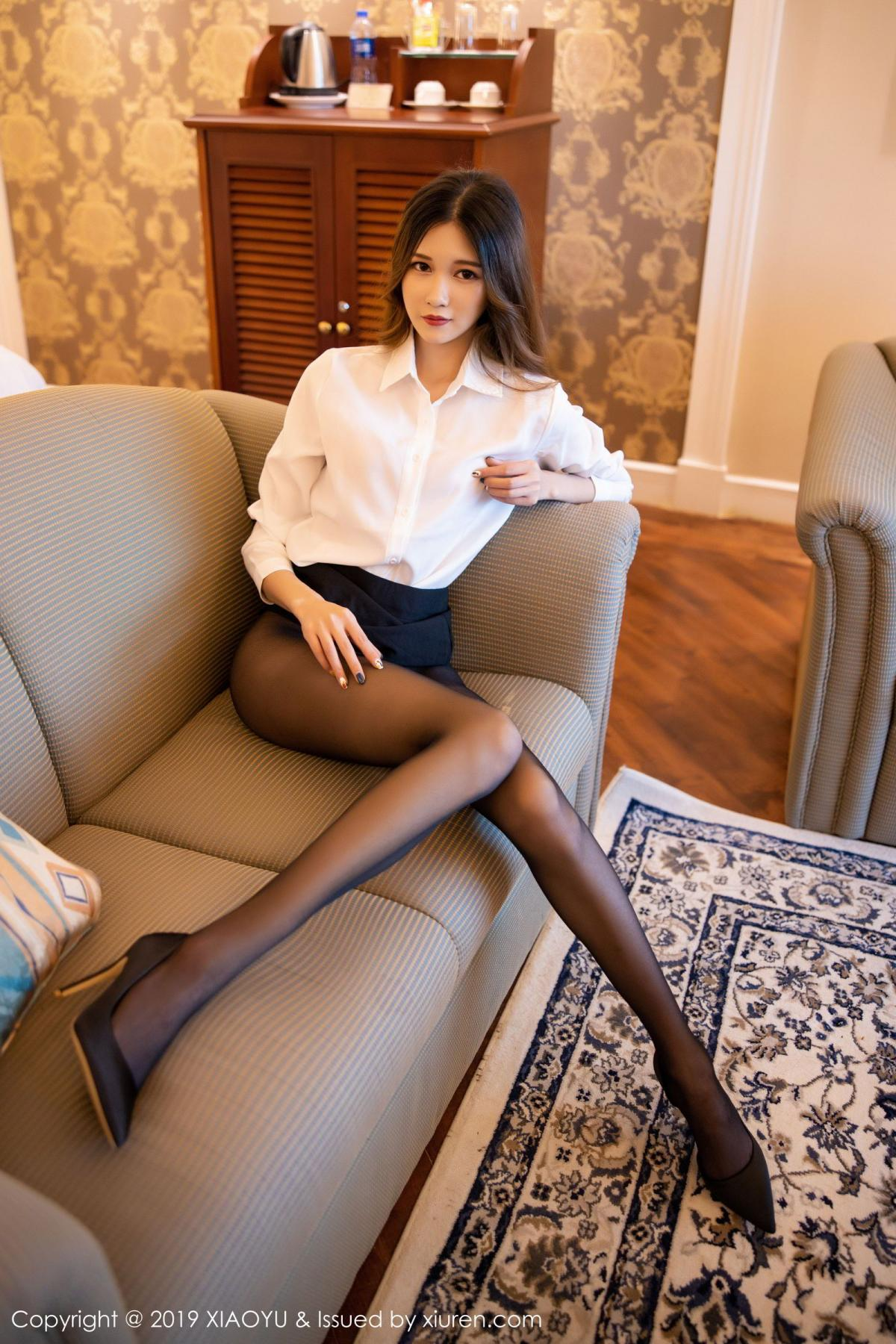 [XiaoYu] Vol.201 Cheng Cheng Cheng 44P, Black Silk, Cheng Cheng Cheng, Uniform, XiaoYu