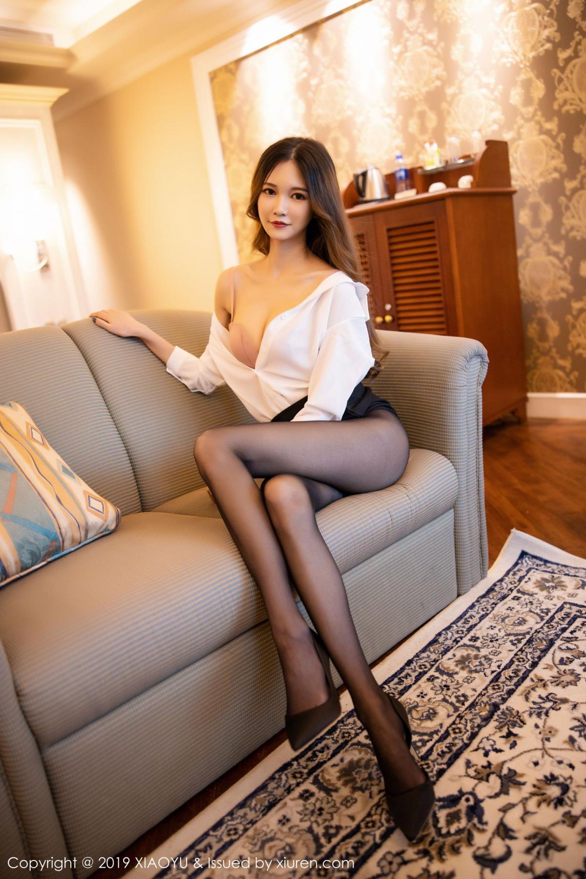 [XiaoYu] Vol.201 Cheng Cheng Cheng 50P, Black Silk, Cheng Cheng Cheng, Uniform, XiaoYu