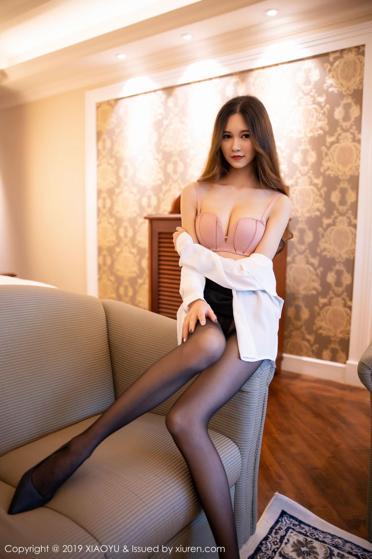 [XiaoYu] Vol.201 Cheng Cheng Cheng 54P, Black Silk, Cheng Cheng Cheng, Uniform, XiaoYu