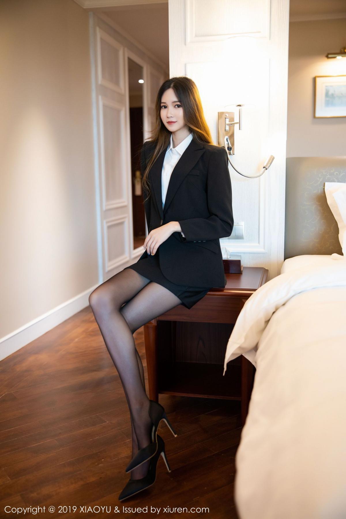 [XiaoYu] Vol.201 Cheng Cheng Cheng 7P, Black Silk, Cheng Cheng Cheng, Uniform, XiaoYu