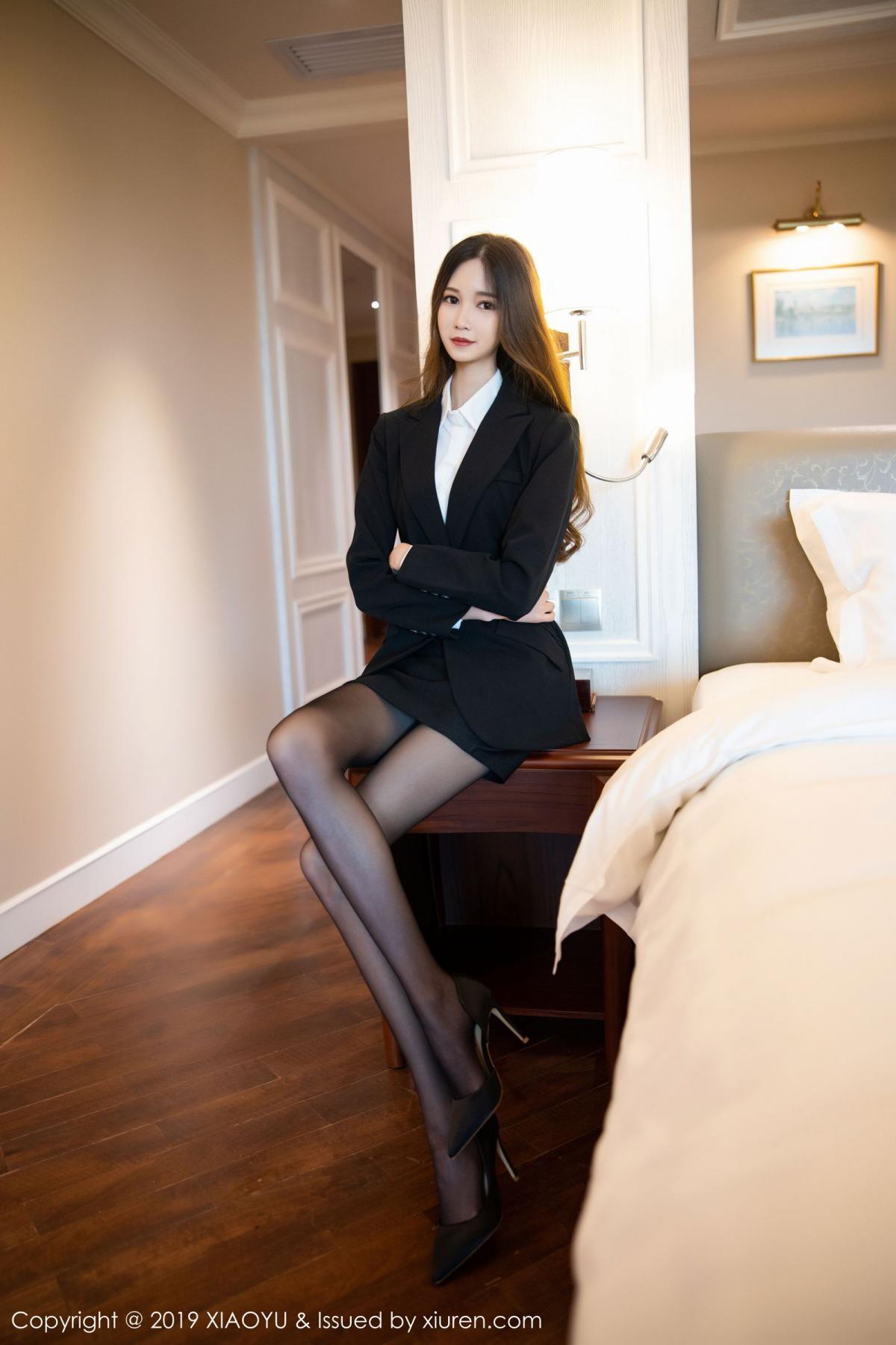 [XiaoYu] Vol.201 Cheng Cheng Cheng 8P, Black Silk, Cheng Cheng Cheng, Uniform, XiaoYu
