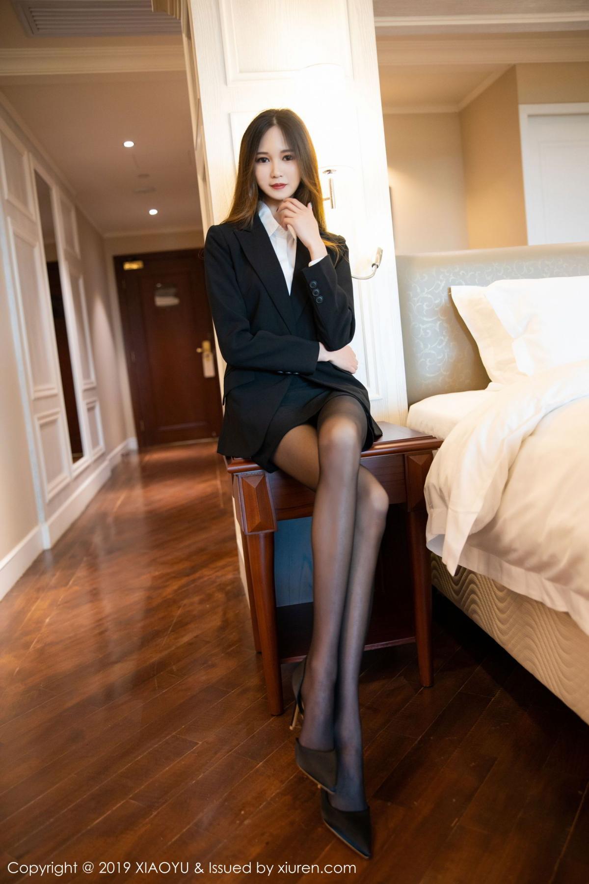 [XiaoYu] Vol.201 Cheng Cheng Cheng 9P, Black Silk, Cheng Cheng Cheng, Uniform, XiaoYu