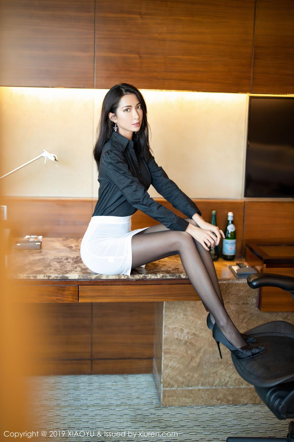 [XiaoYu] Vol.202 Chen Liang Ling 11P, Black Silk, Chen Liang Ling, Tall, Temperament, Underwear, XiaoYu