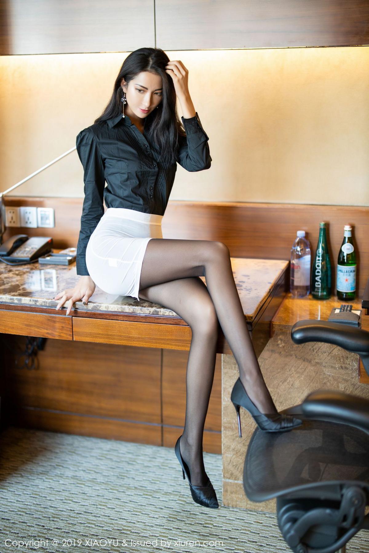 [XiaoYu] Vol.202 Chen Liang Ling 12P, Black Silk, Chen Liang Ling, Tall, Temperament, Underwear, XiaoYu