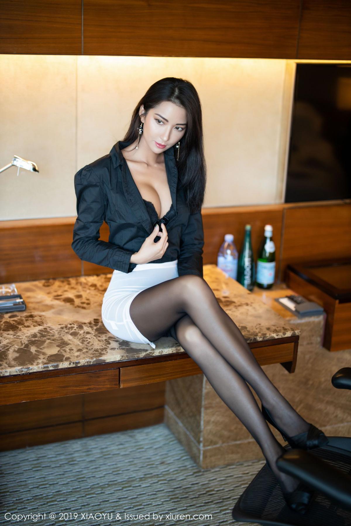 [XiaoYu] Vol.202 Chen Liang Ling 18P, Black Silk, Chen Liang Ling, Tall, Temperament, Underwear, XiaoYu