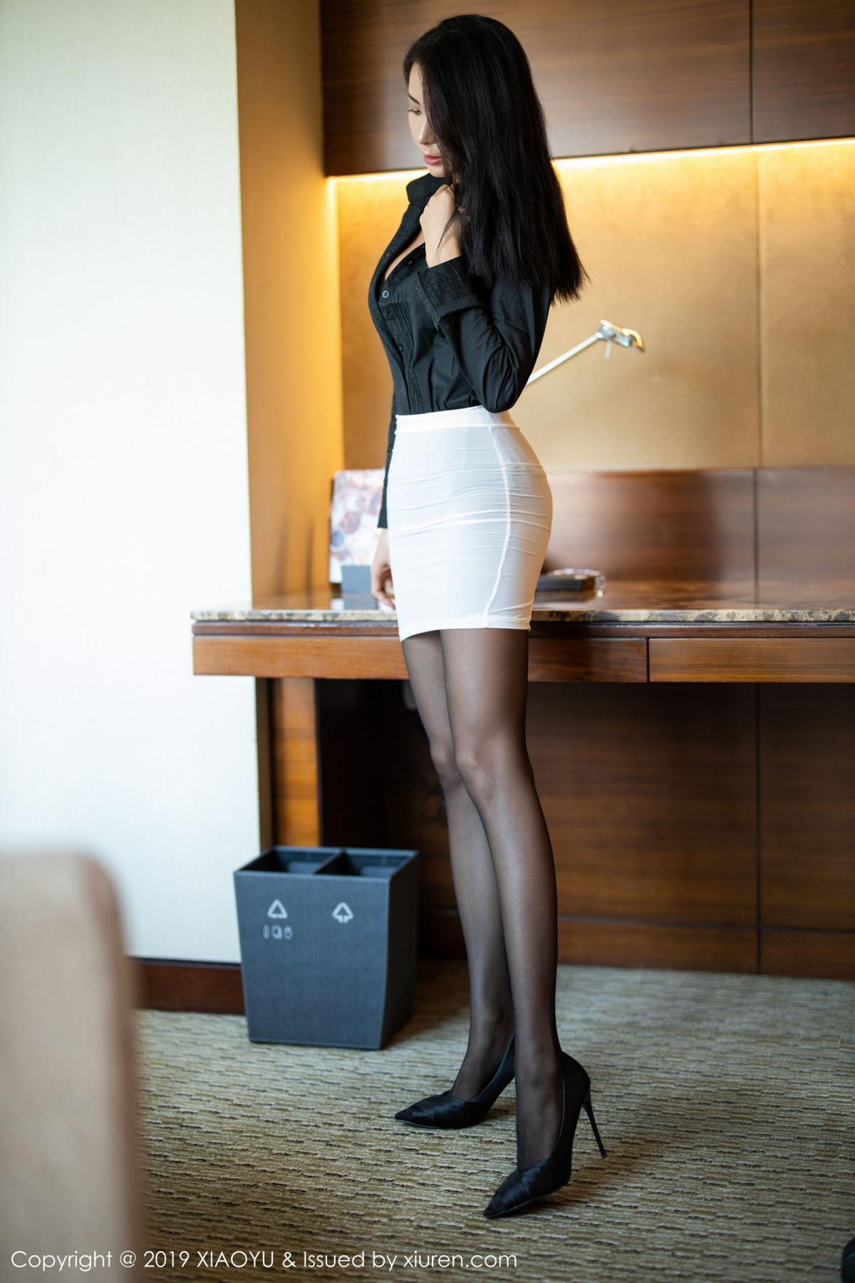 [XiaoYu] Vol.202 Chen Liang Ling 19P, Black Silk, Chen Liang Ling, Tall, Temperament, Underwear, XiaoYu