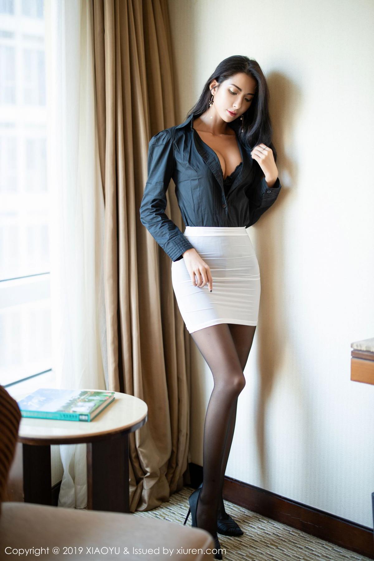 [XiaoYu] Vol.202 Chen Liang Ling 21P, Black Silk, Chen Liang Ling, Tall, Temperament, Underwear, XiaoYu