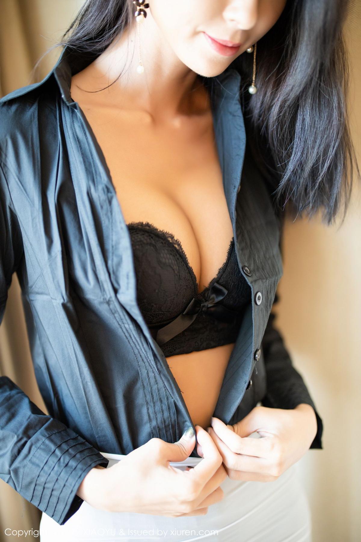 [XiaoYu] Vol.202 Chen Liang Ling 22P, Black Silk, Chen Liang Ling, Tall, Temperament, Underwear, XiaoYu