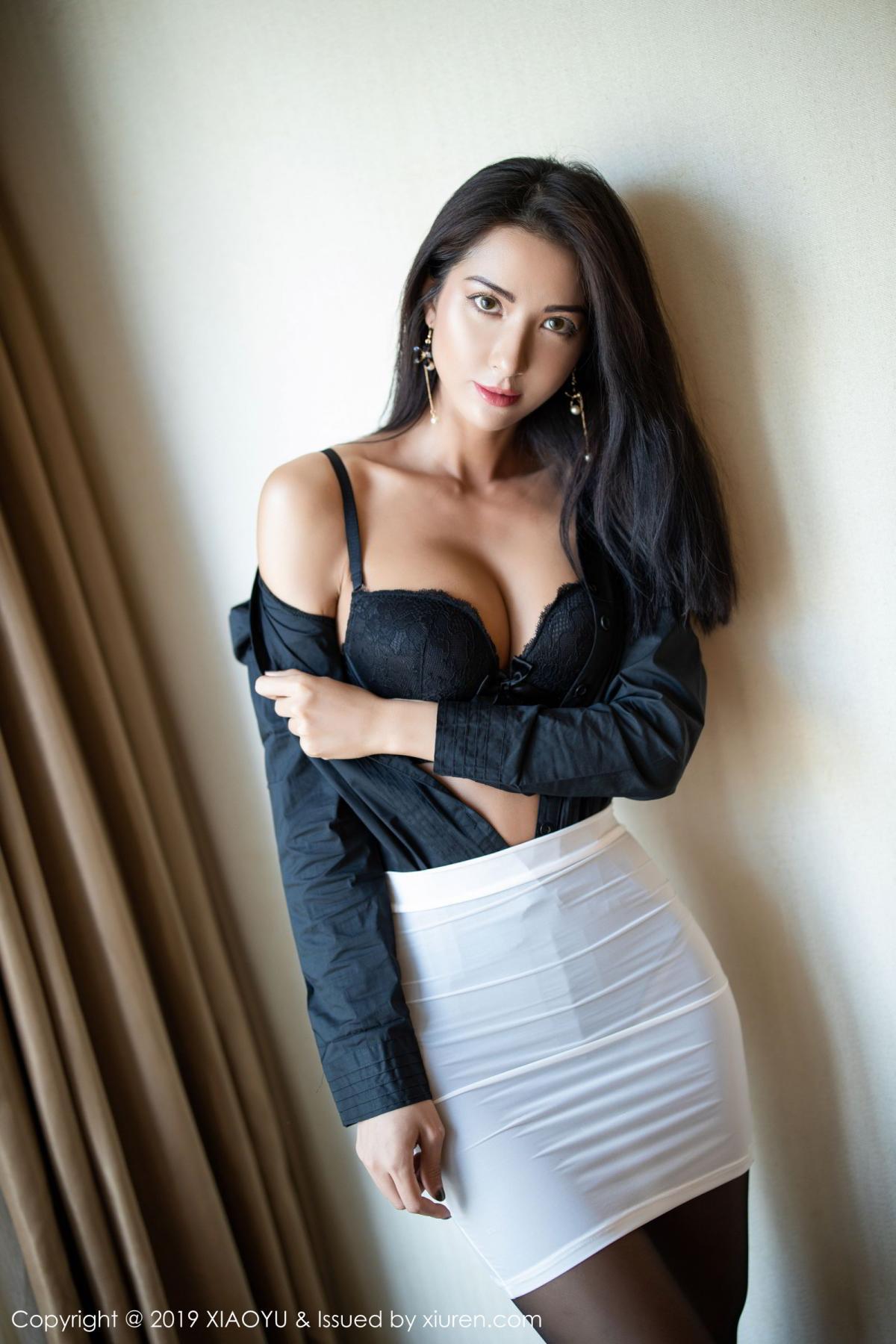 [XiaoYu] Vol.202 Chen Liang Ling 25P, Black Silk, Chen Liang Ling, Tall, Temperament, Underwear, XiaoYu