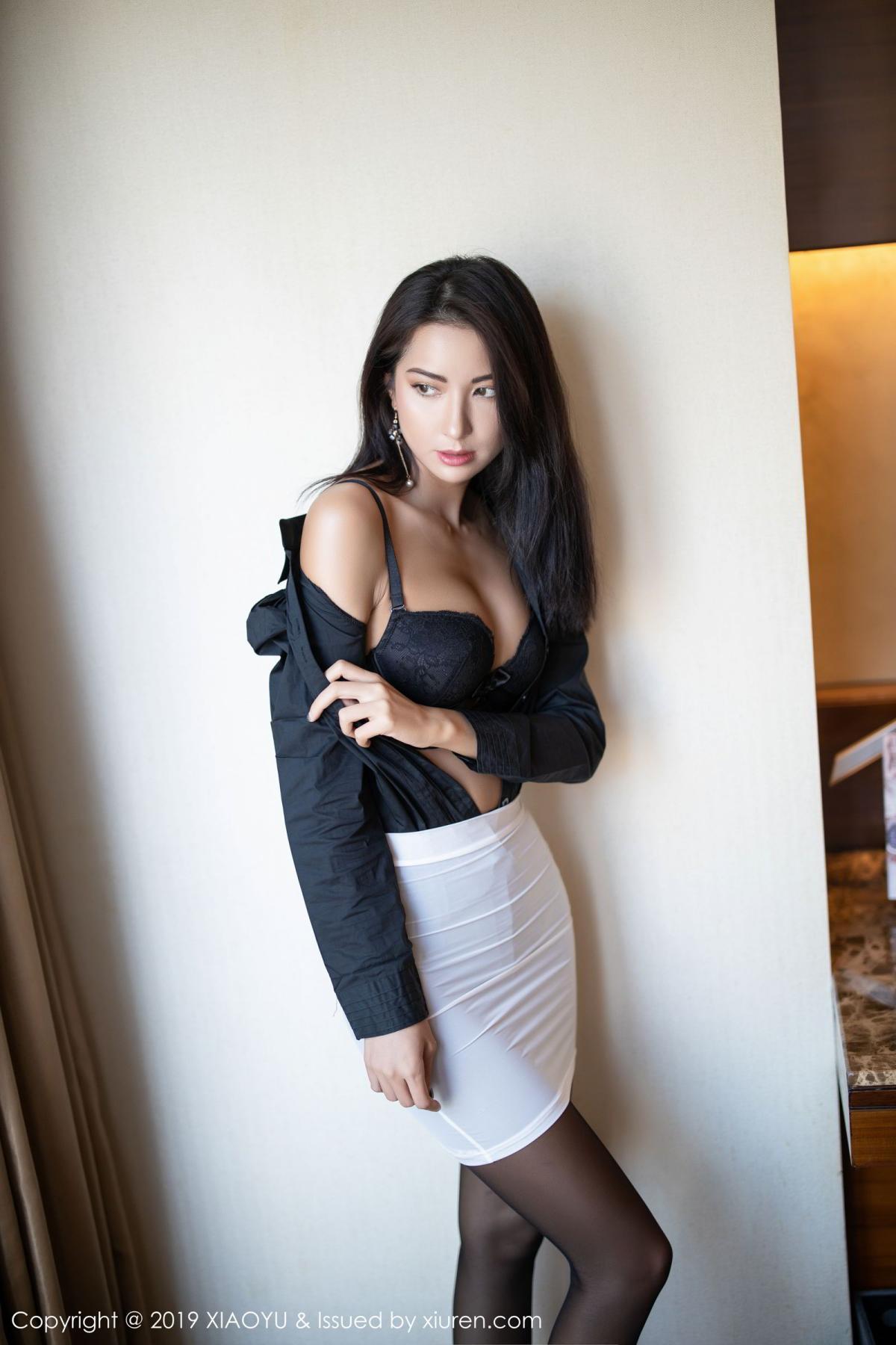 [XiaoYu] Vol.202 Chen Liang Ling 26P, Black Silk, Chen Liang Ling, Tall, Temperament, Underwear, XiaoYu